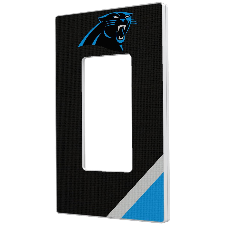 Carolina Panthers Diagonal Stripe Single Rocker Light Switch Plate
