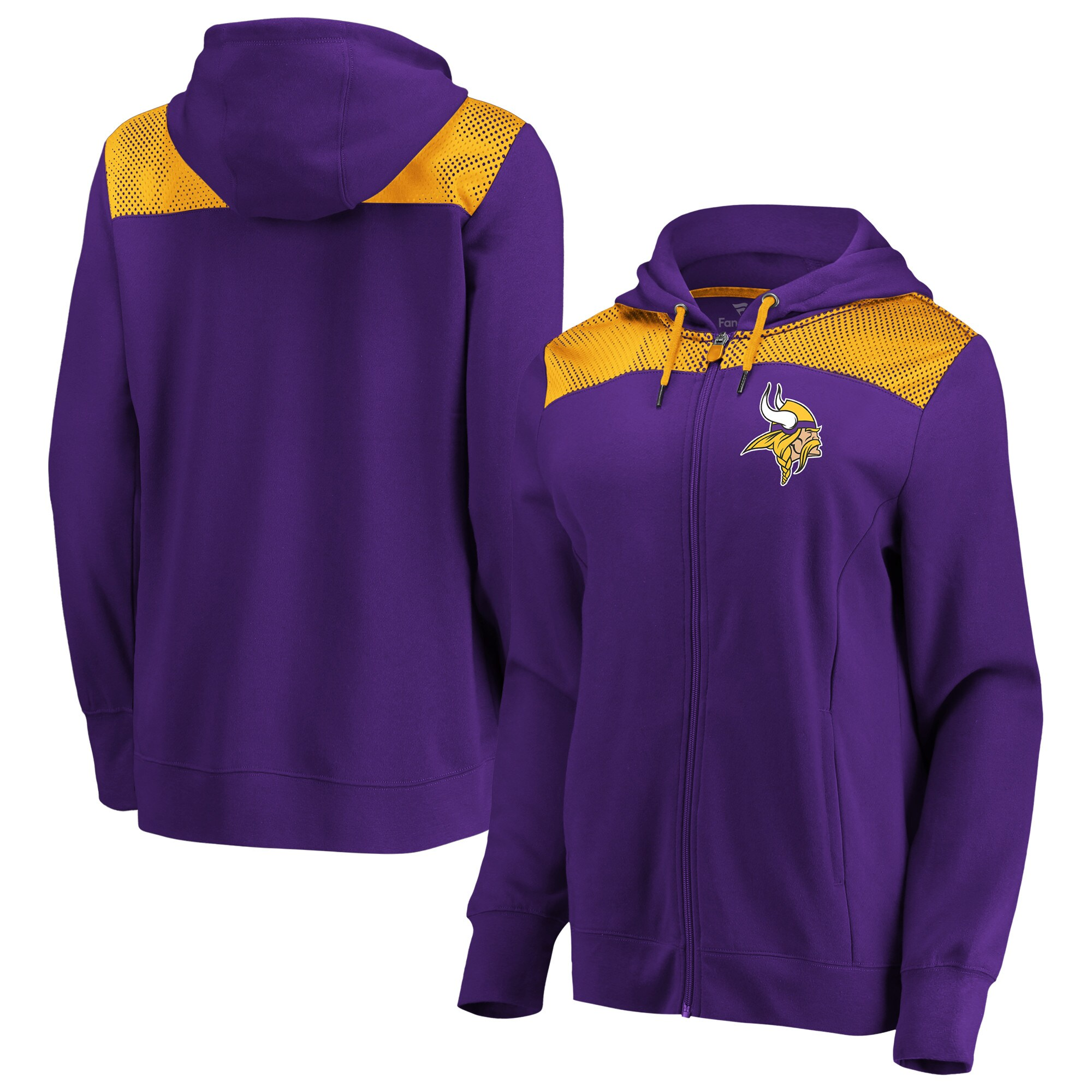 Minnesota Vikings Fanatics Branded Women's Team Best Full-Zip Hoodie - Purple