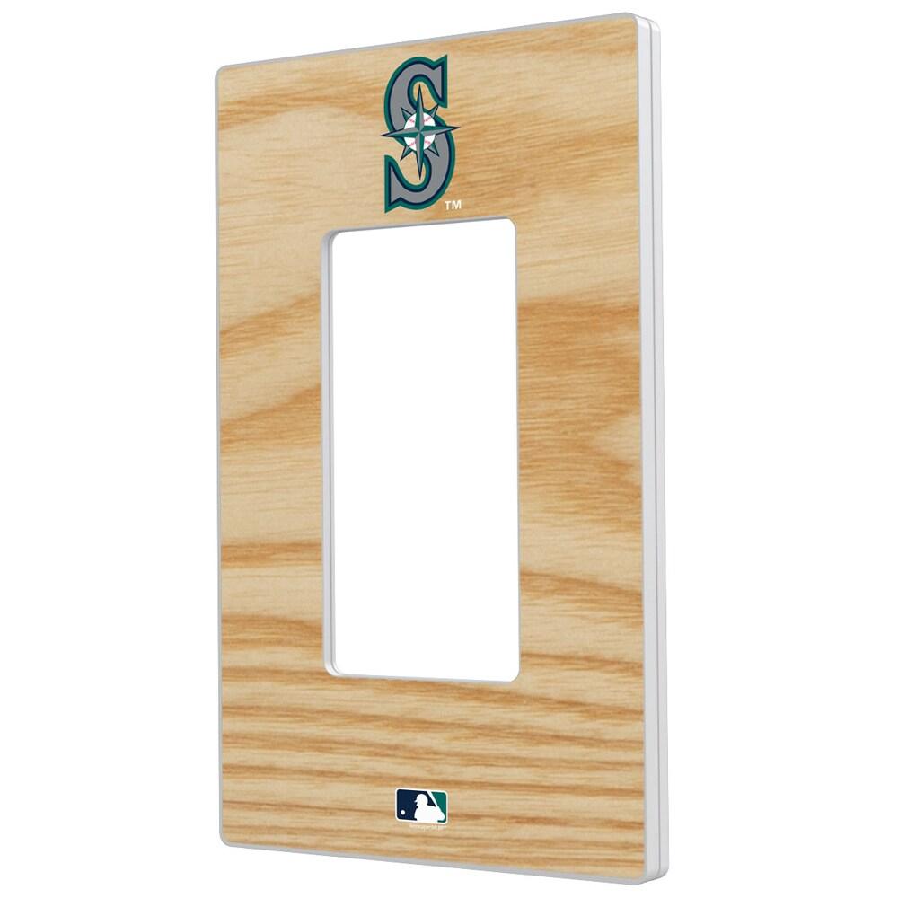 Seattle Mariners Baseball Bat Design Single Rocker Light Switch Plate