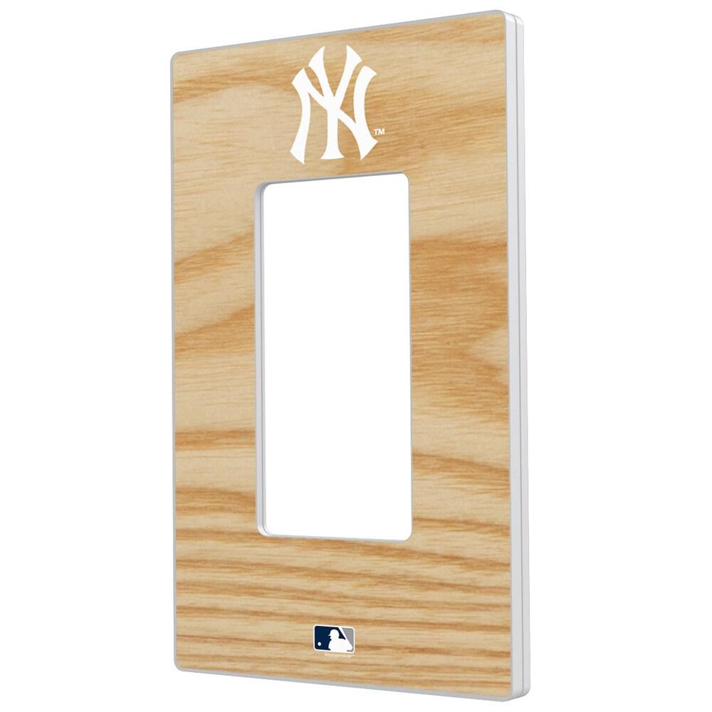 New York Yankees Baseball Bat Design Single Rocker Light Switch Plate