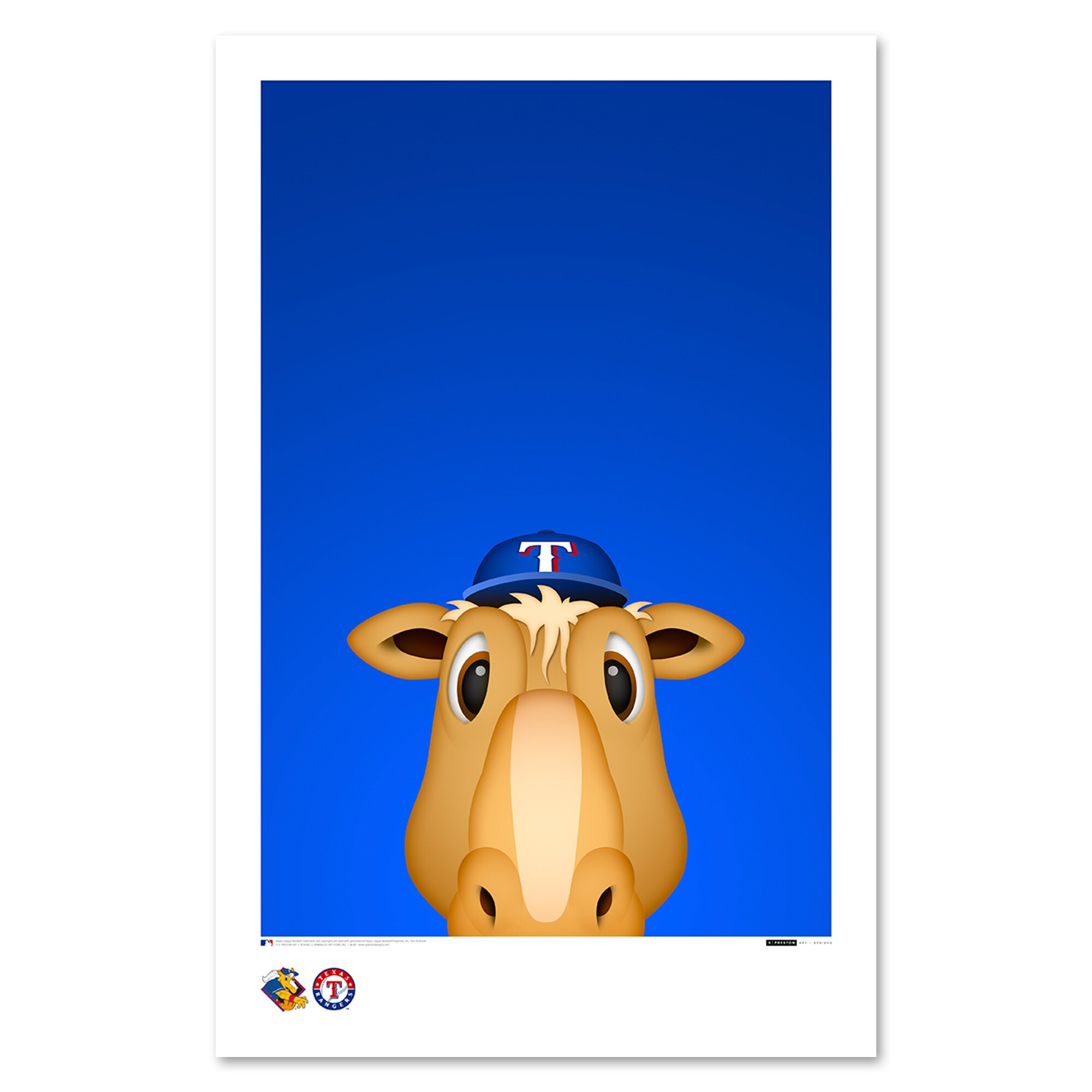 "Texas Rangers 11"" x 17"" Minimalist Ranger Captain Wall Art"