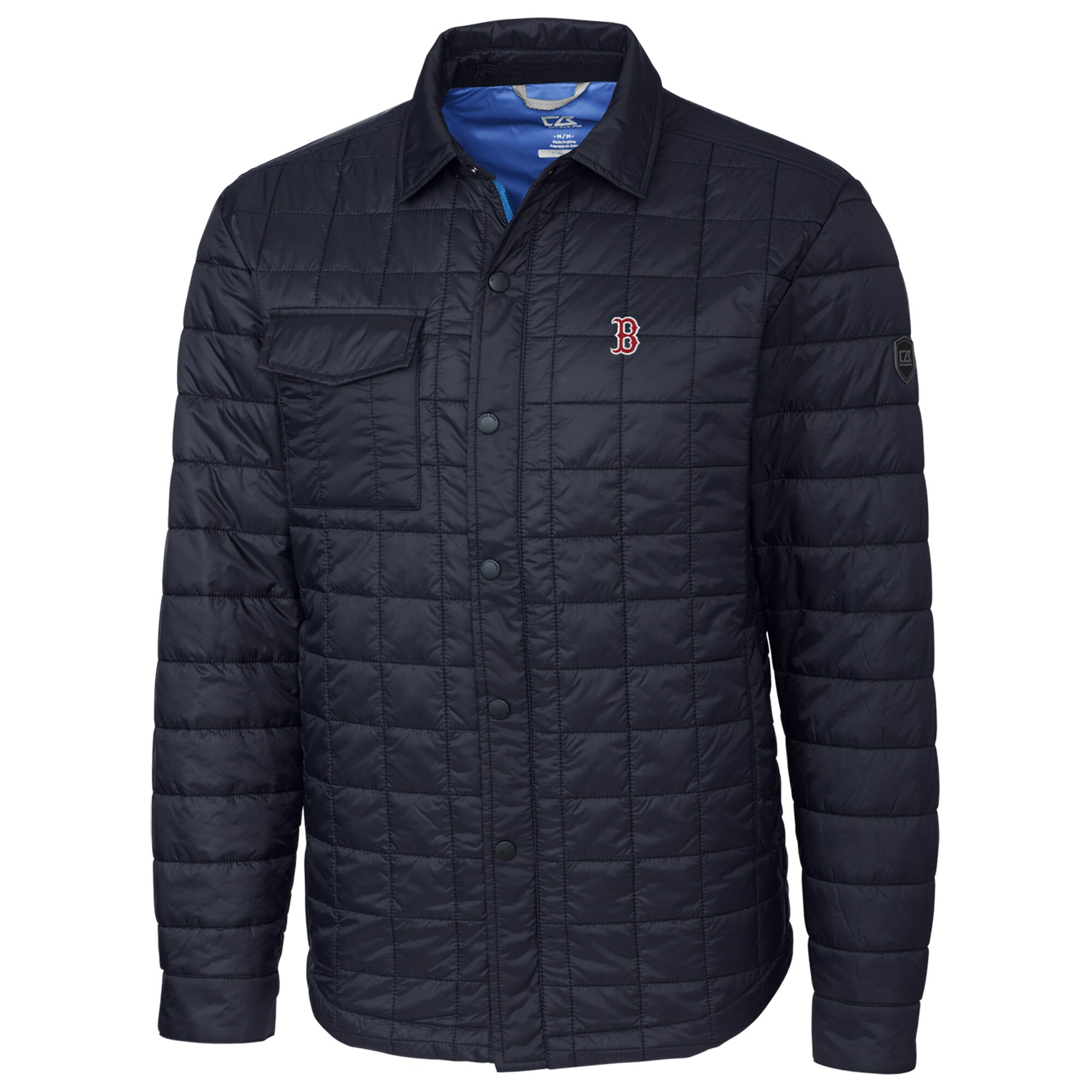 Boston Red Sox Cutter & Buck Rainier Shirt Full-Zip Jacket - Navy