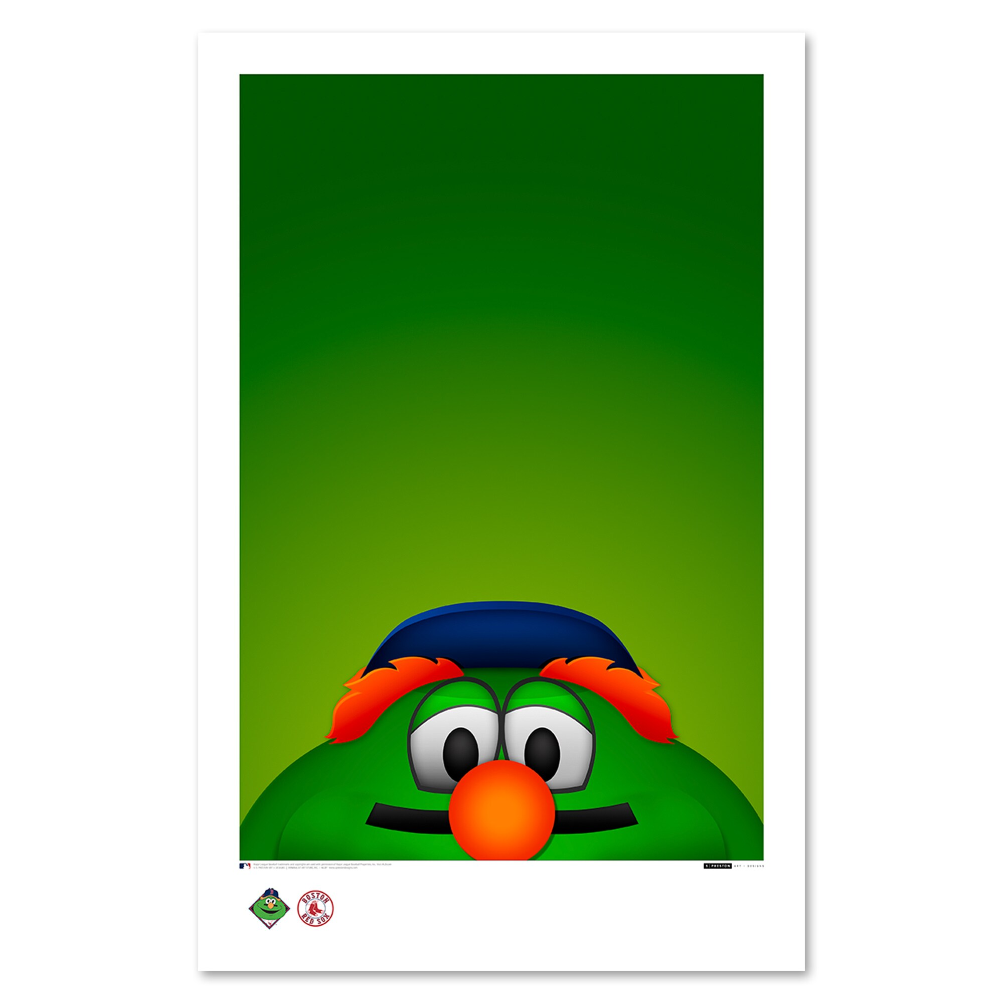 "Boston Red Sox 11"" x 17"" Minimalist Wally The Green Monster Wall Art"