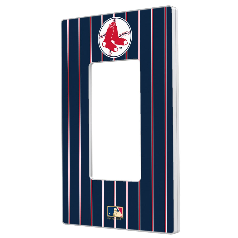 Boston Red Sox 1970-1975 Cooperstown Pinstripe Single Rocker Light Switch Plate