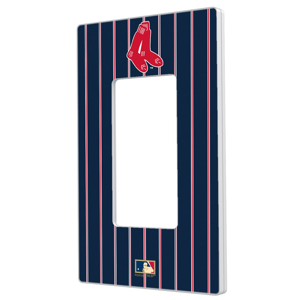 Boston Red Sox 1924-1960 Cooperstown Pinstripe Single Rocker Light Switch Plate