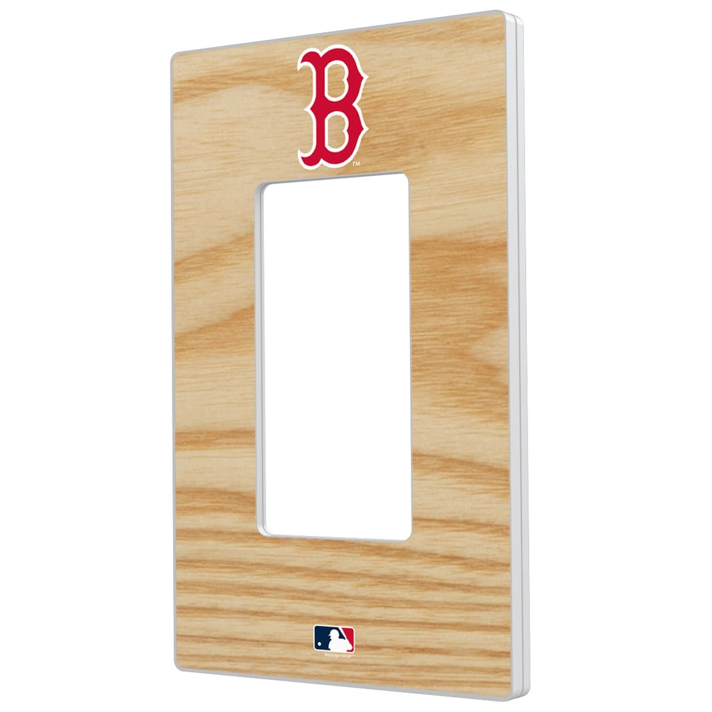 Boston Red Sox Baseball Bat Design Single Rocker Light Switch Plate