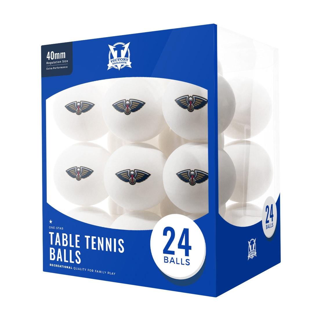 New Orleans Pelicans 24-Count Logo Table Tennis Balls