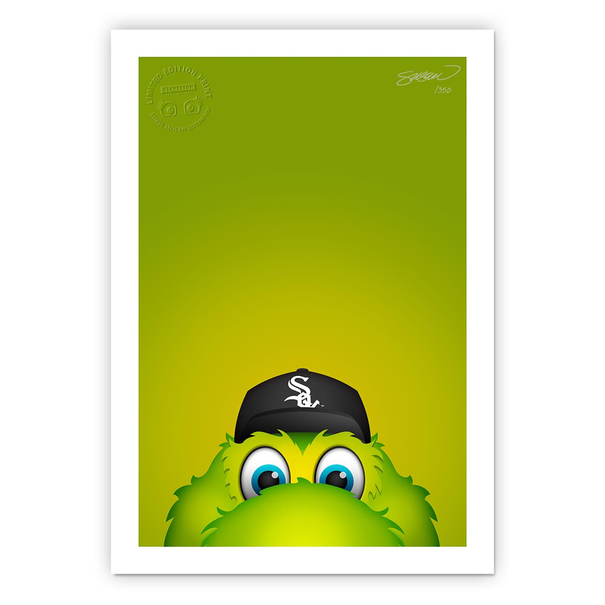 """Chicago White Sox 14"""" x 20"""" Minimalist Southpaw Mascot Wall Art"""