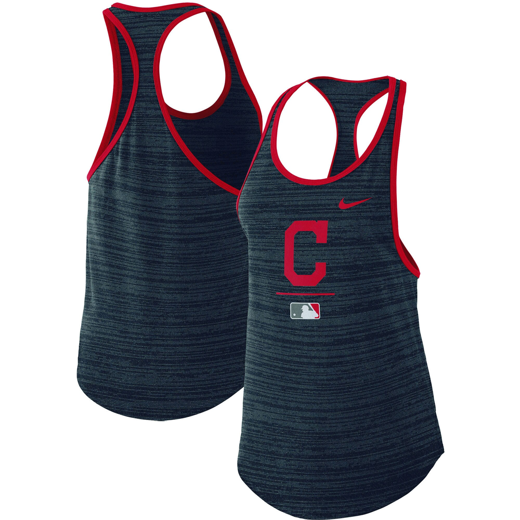 Cleveland Indians Nike Women's Authentic Collection Velocity Team Issue Racerback Tank Top - Navy