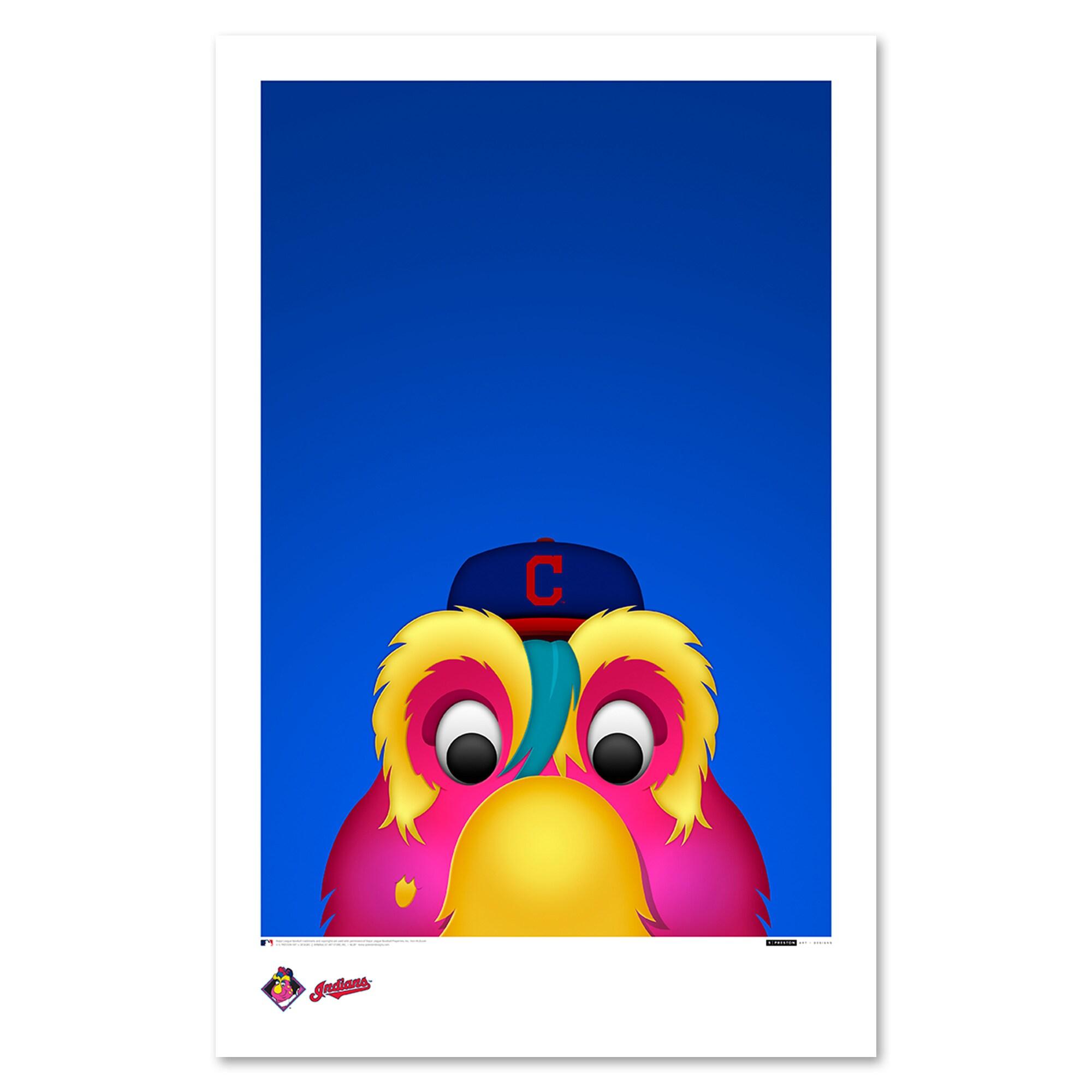 "Cleveland Indians 11"" x 17"" Minimalist Slider Wall Art"