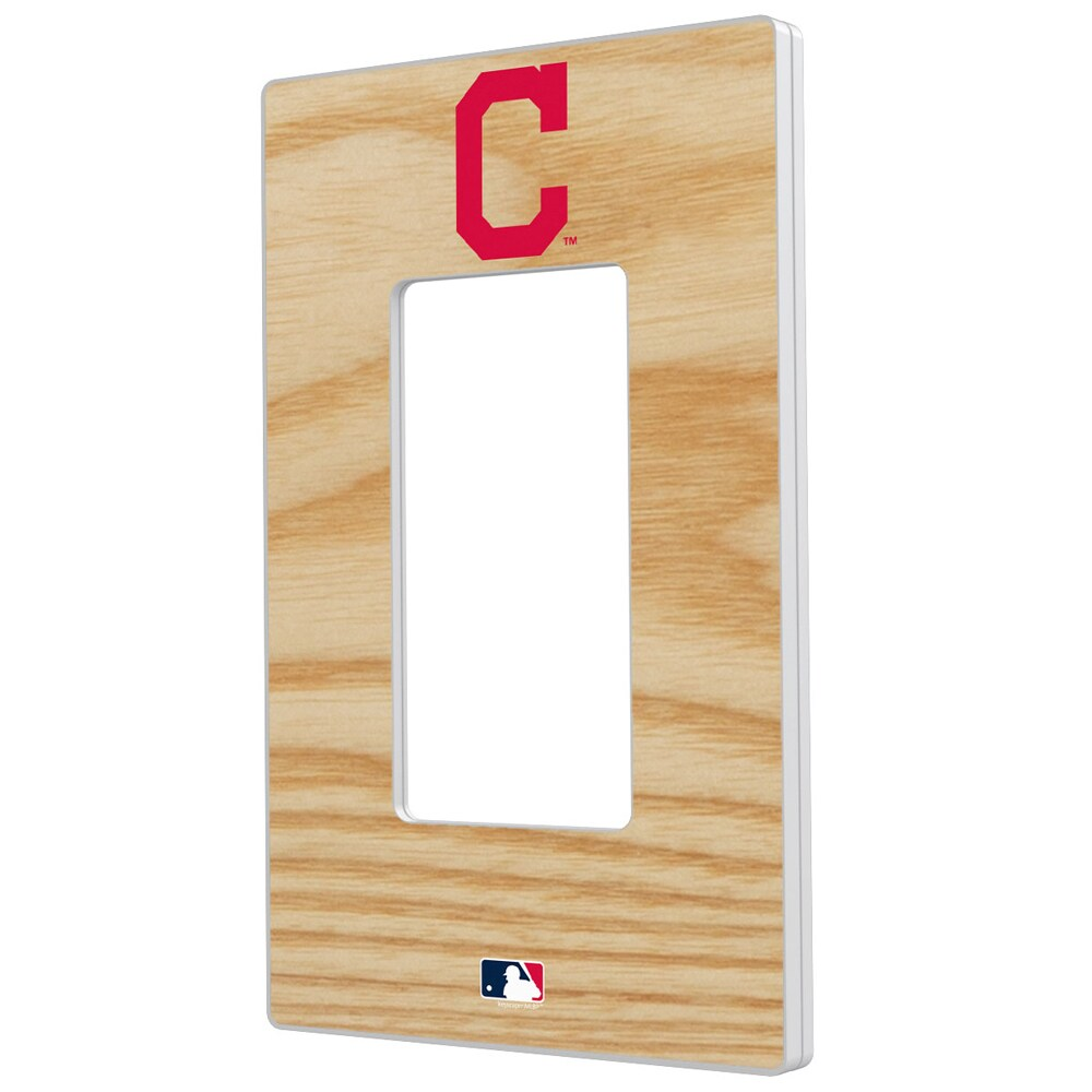 Cleveland Indians Baseball Bat Design Single Rocker Light Switch Plate
