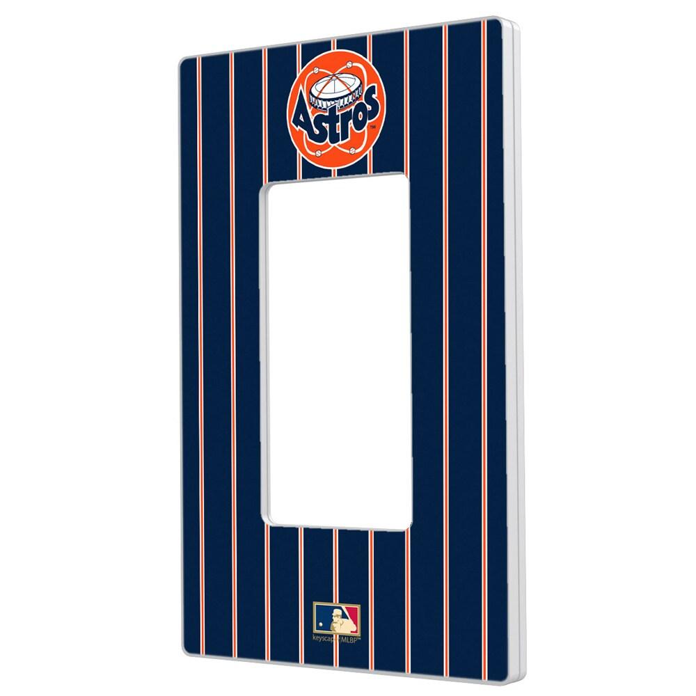 Houston Astros 1977-1998 Cooperstown Pinstripe Single Rocker Light Switch Plate
