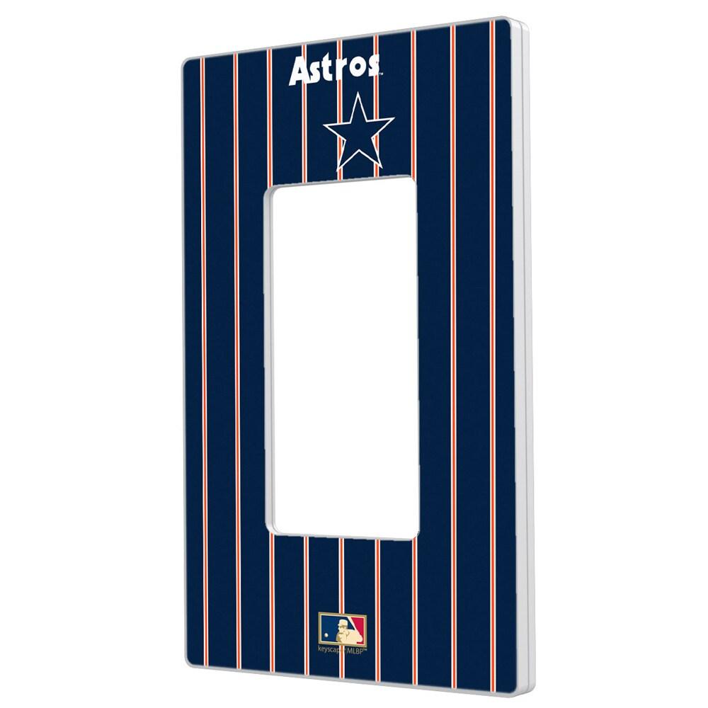 Houston Astros 1975-1981 Cooperstown Pinstripe Single Rocker Light Switch Plate