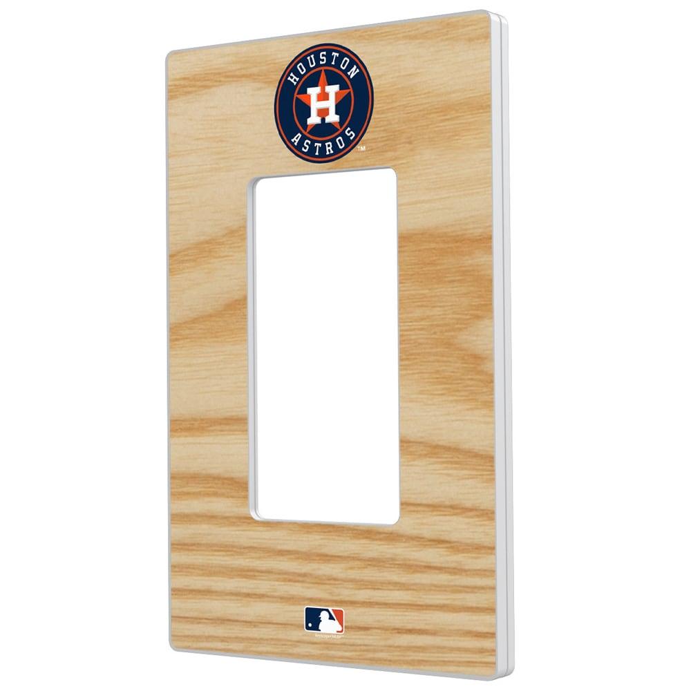 Houston Astros Baseball Bat Design Single Rocker Light Switch Plate