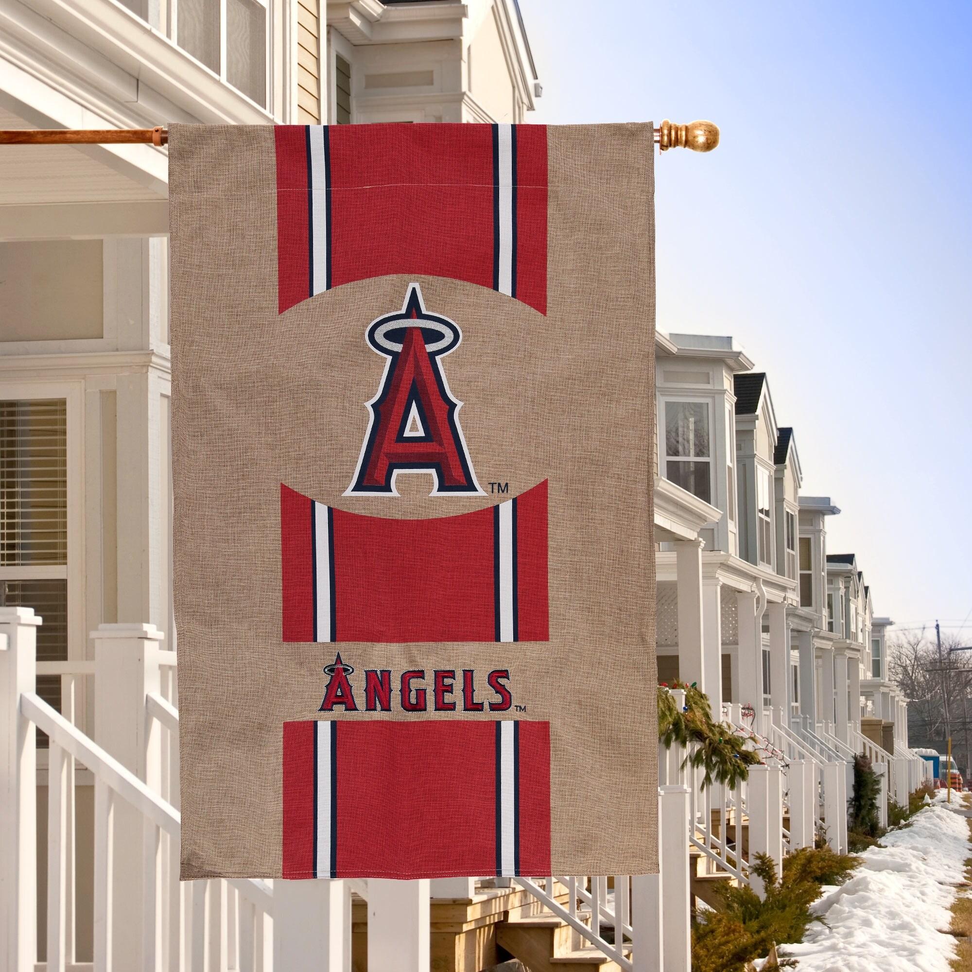 "Los Angeles Angels 28"" x 44"" Burlap House Flag"