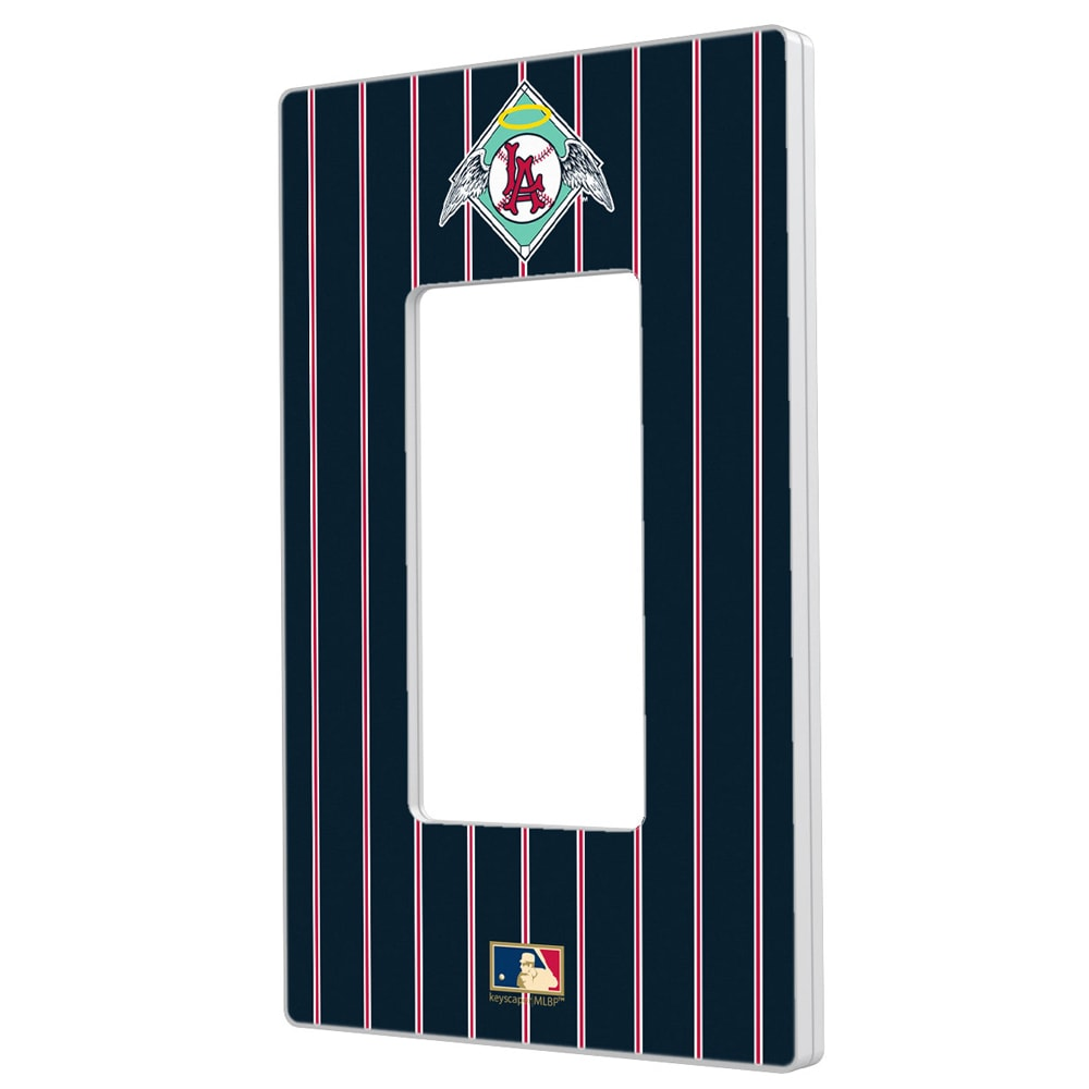 Los Angeles Angels 1961-1965 Cooperstown Pinstripe Single Rocker Light Switch Plate