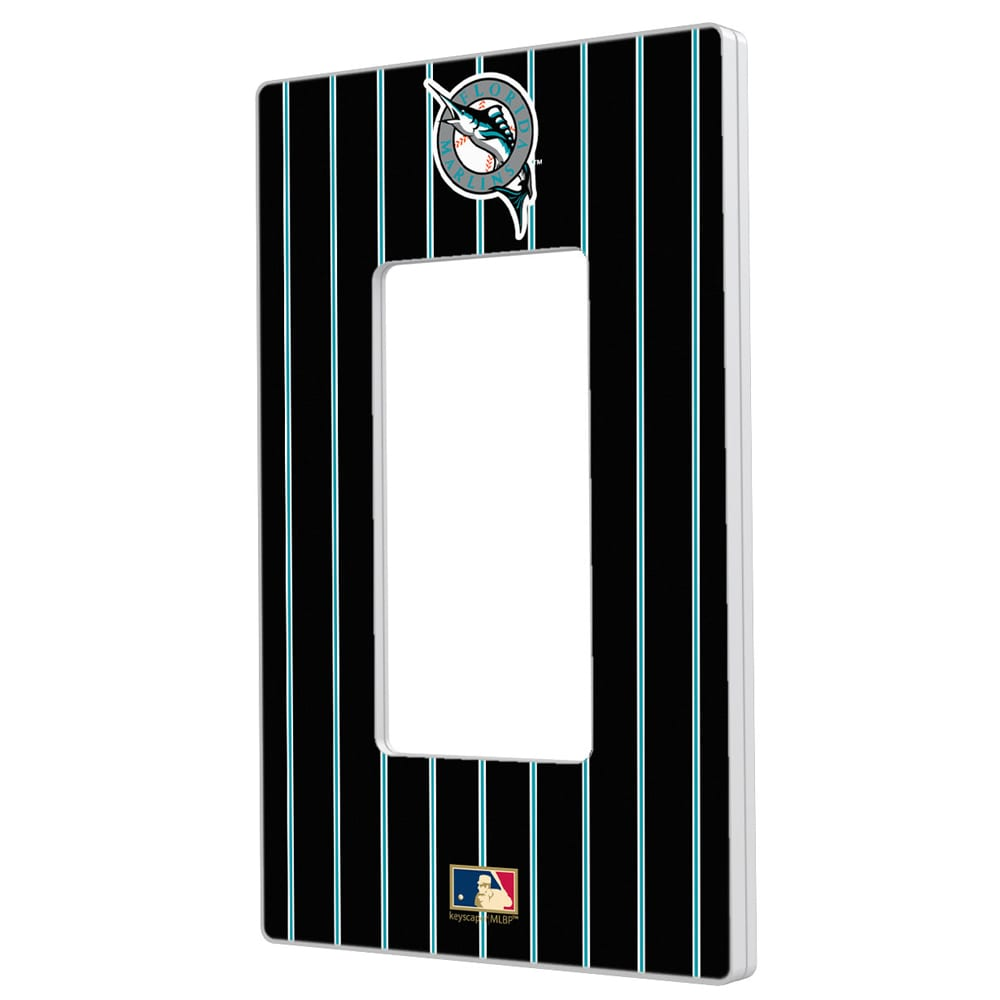 Miami Marlins 1993-2011 Cooperstown Pinstripe Single Rocker Light Switch Plate