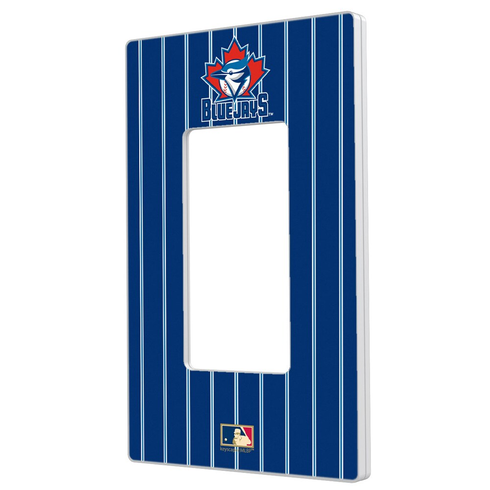 Toronto Blue Jays 1997-2002 Cooperstown Pinstripe Single Rocker Light Switch Plate