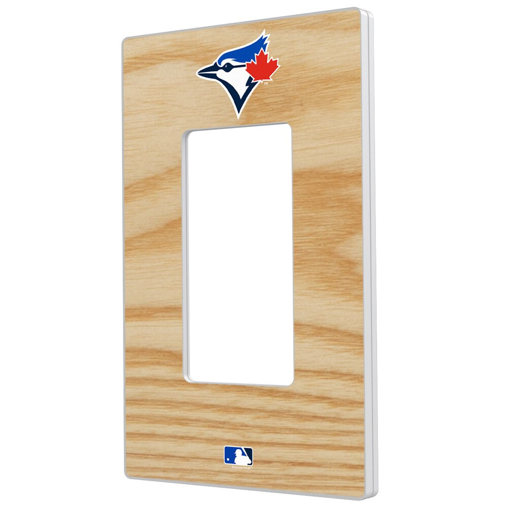 Toronto Blue Jays Baseball Bat Design Single Rocker Light Switch Plate