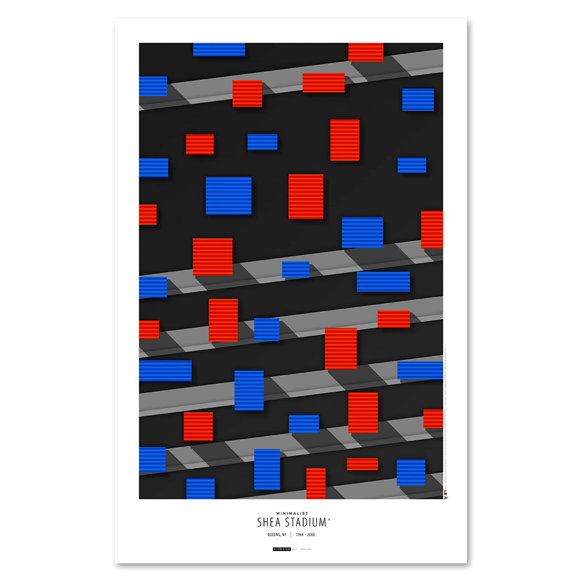 "New York Mets 11"" x 17"" Minimalist Shea Stadium Wall Art"