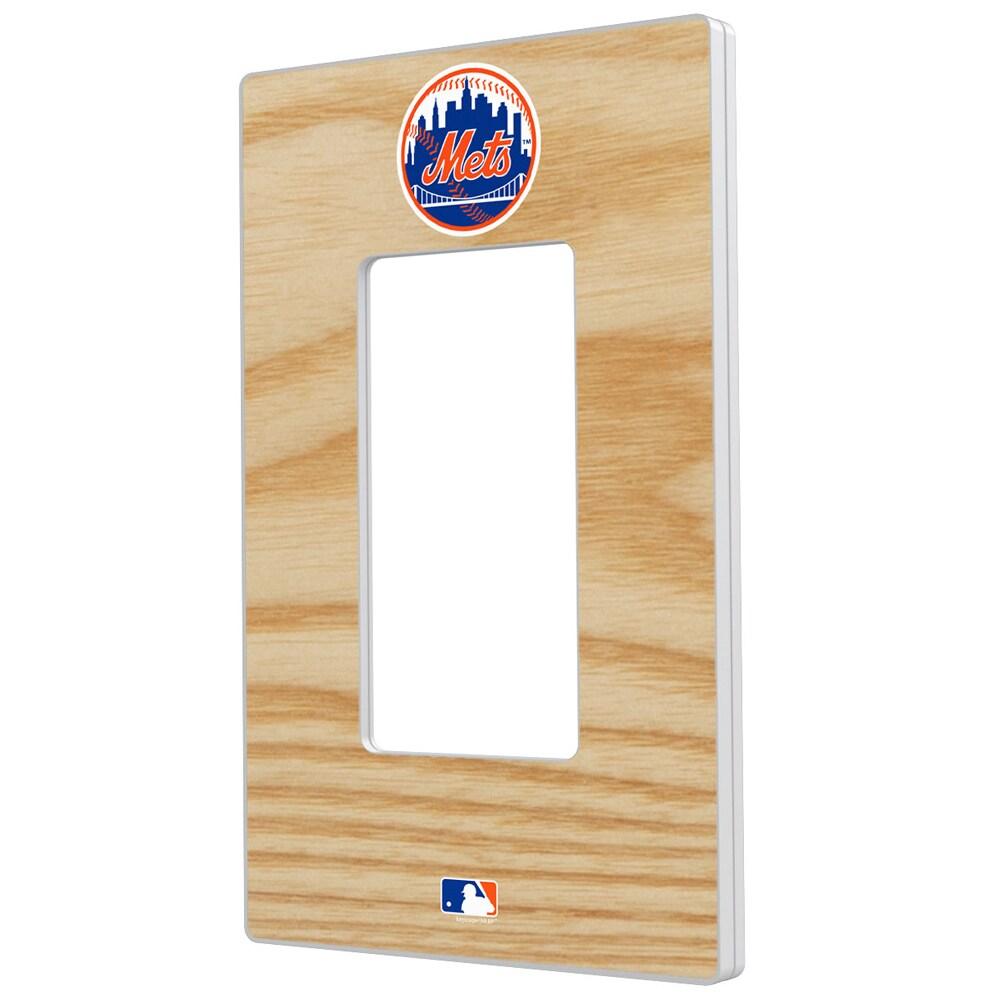 New York Mets Baseball Bat Design Single Rocker Light Switch Plate