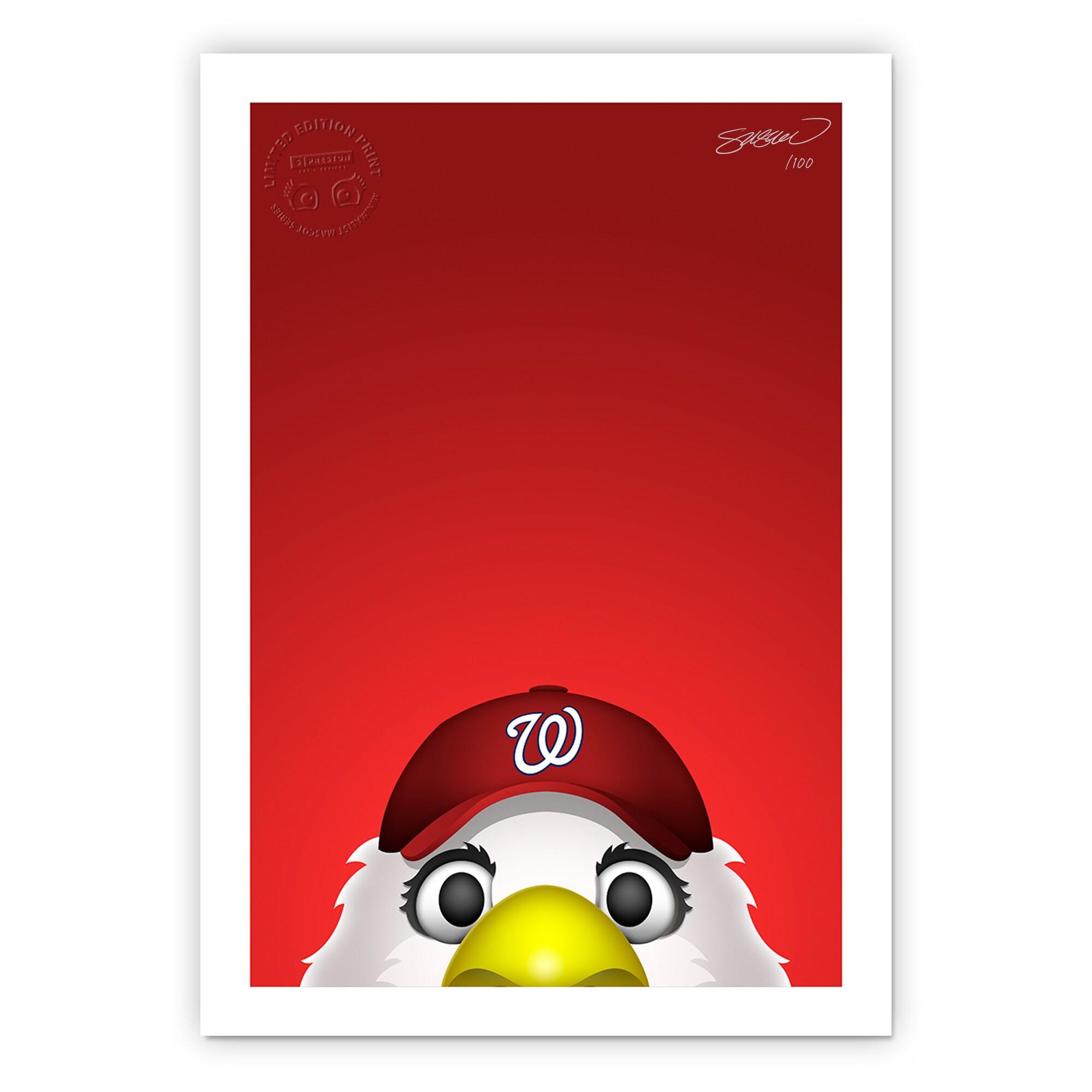 "Washington Nationals 24"" x 32"" Minimalist Washington Nationals Mascot Wall Art"