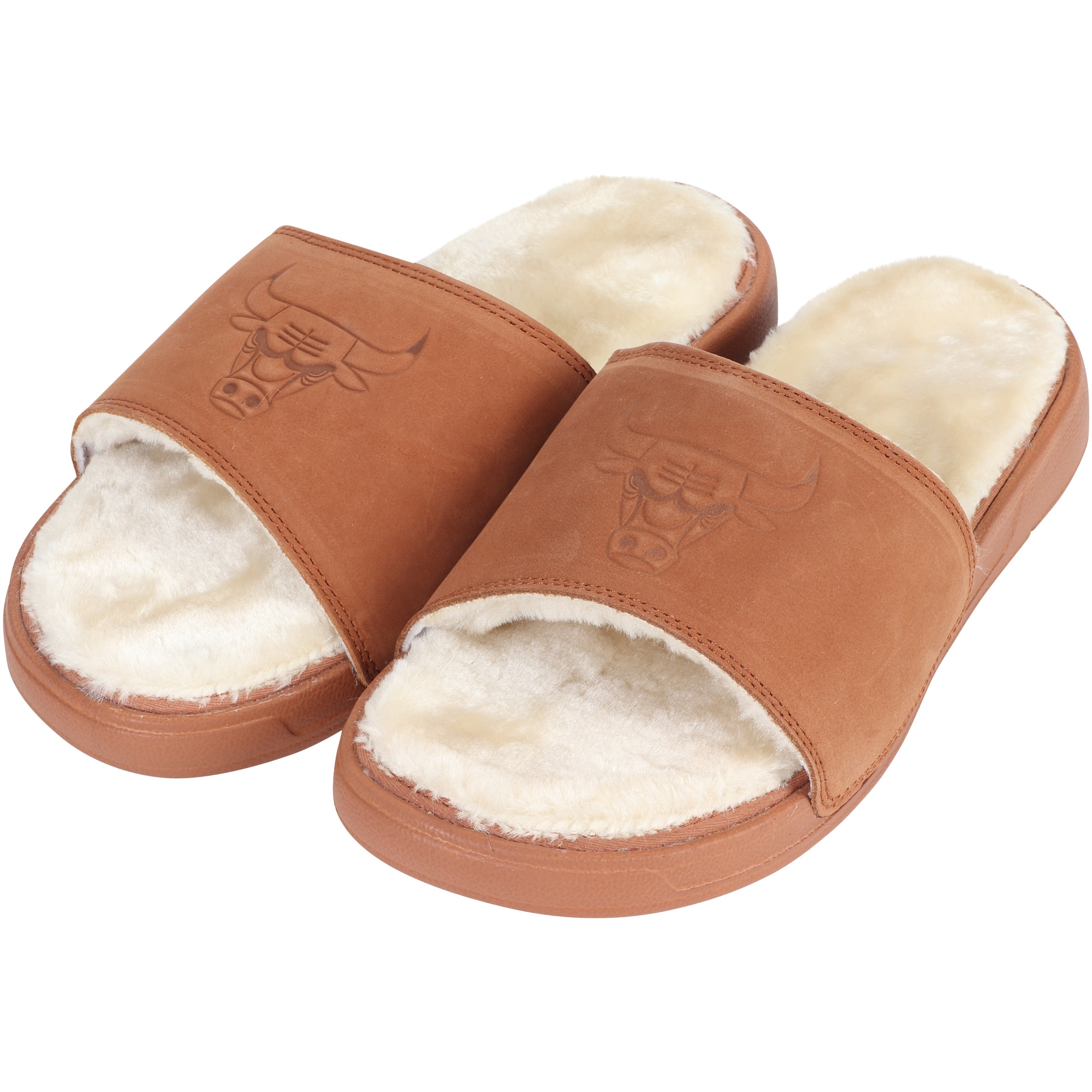 Chicago Bulls ISlide Nubuck Fur Slide - Brown