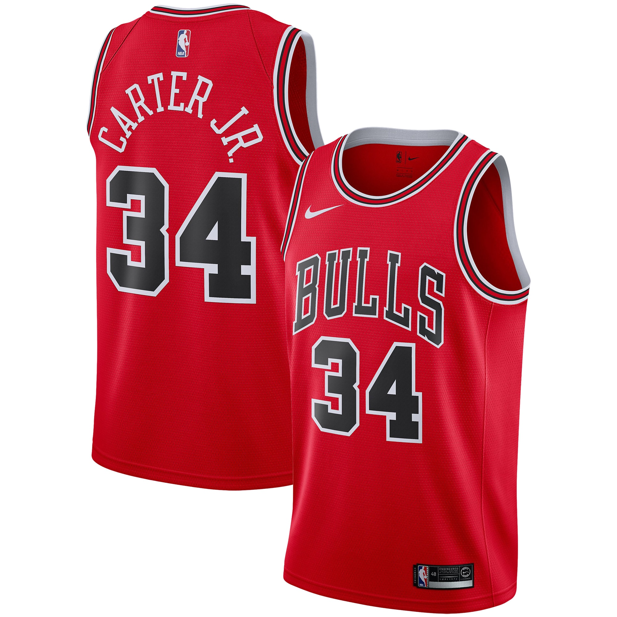 Chicago Bulls Wendell Carter Jr. Nike Men's Swingman Team Jersey - Red