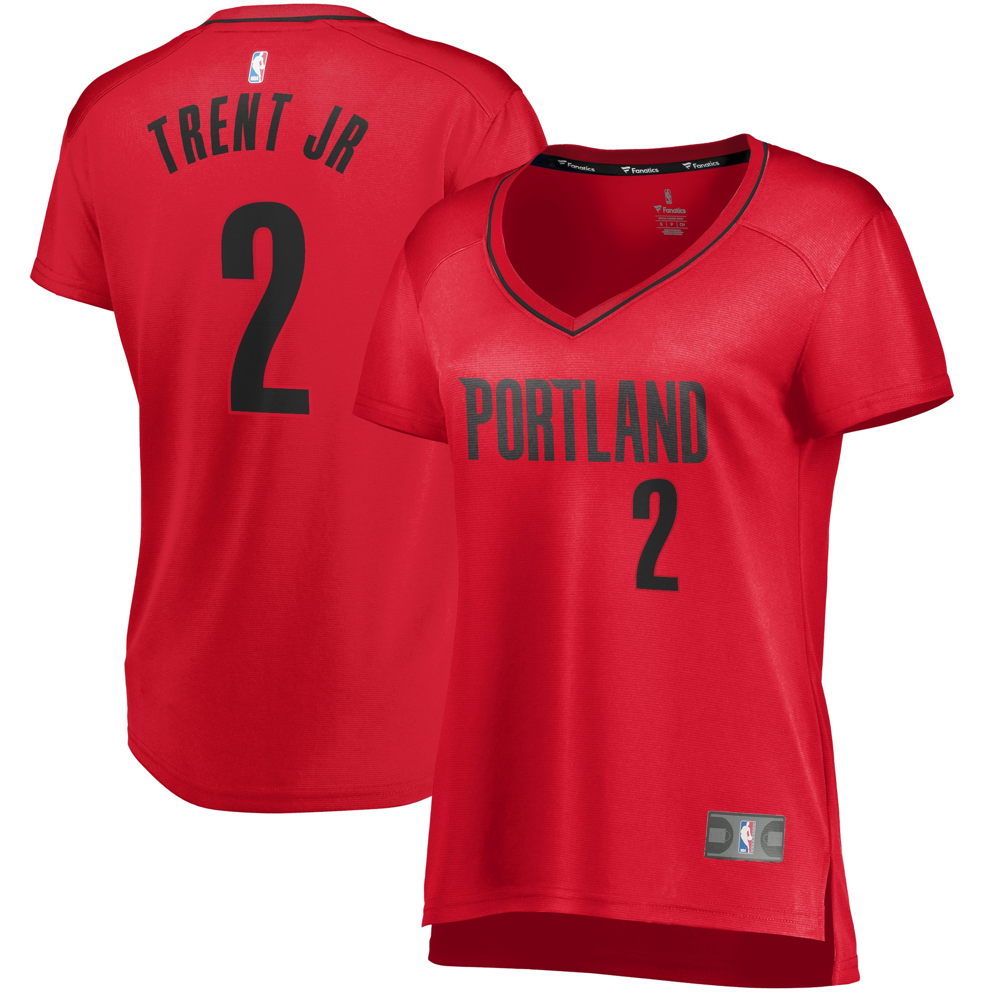 Gary Trent Jr. Portland Trail Blazers Fanatics Branded Women's Fast Break Player Jersey - Statement Edition - Red