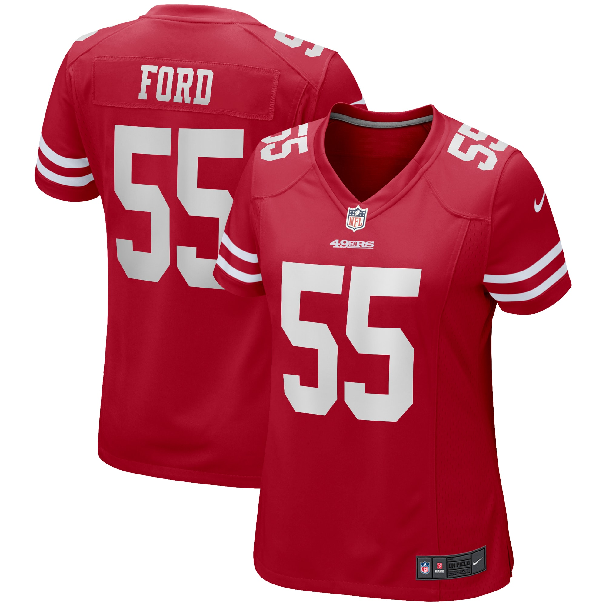 Dee Ford San Francisco 49ers Nike Women's Game Jersey - Scarlet