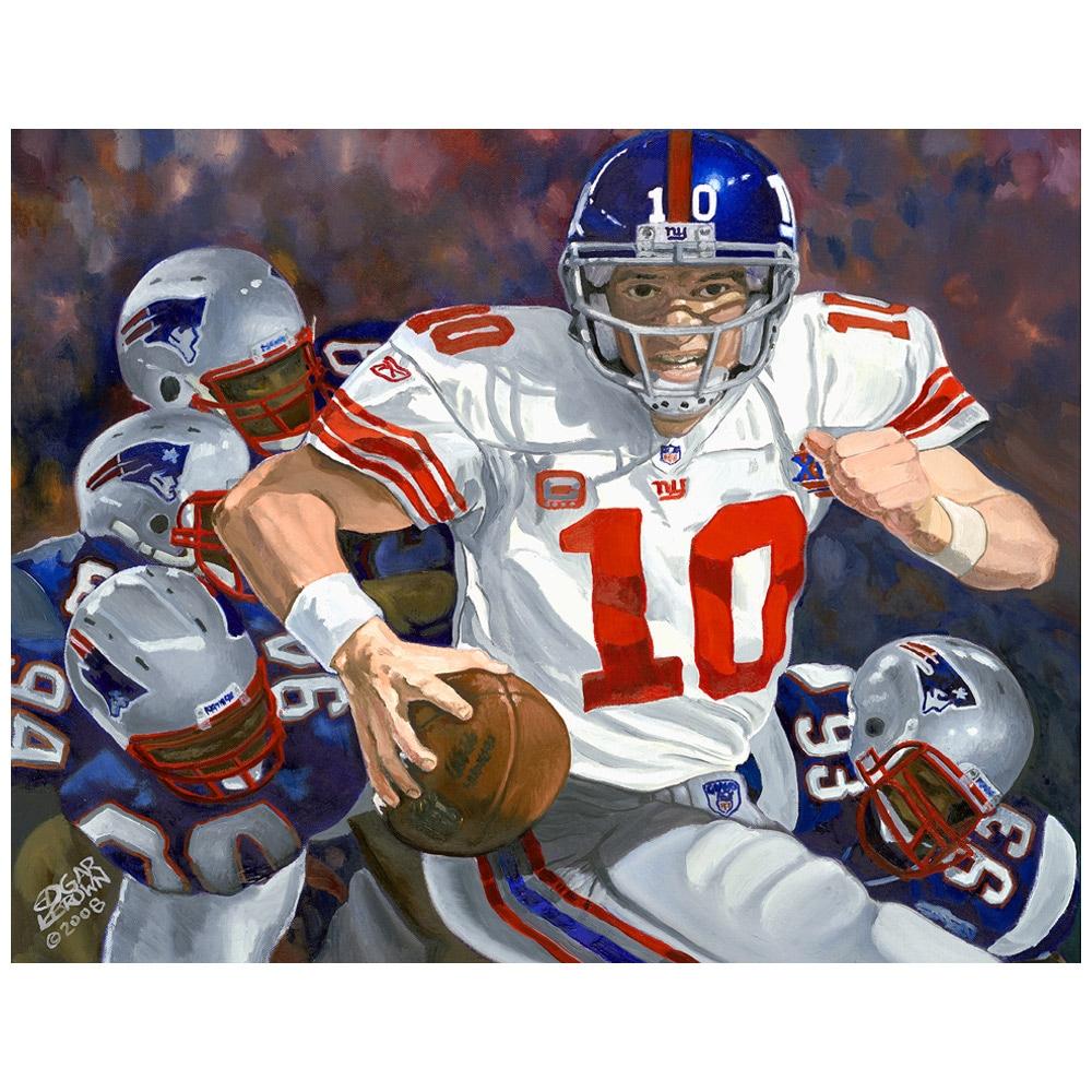 "Eli Manning New York Giants Deacon Jones Foundation 28"" x 30"" Cool Eli MVP Player Giclée Canvas"