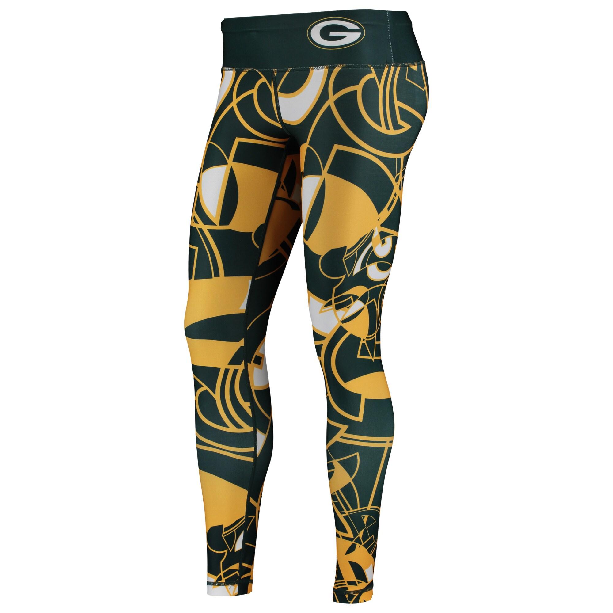 Green Bay Packers Women's NFLxFIT Quicksnap Leggings - Green