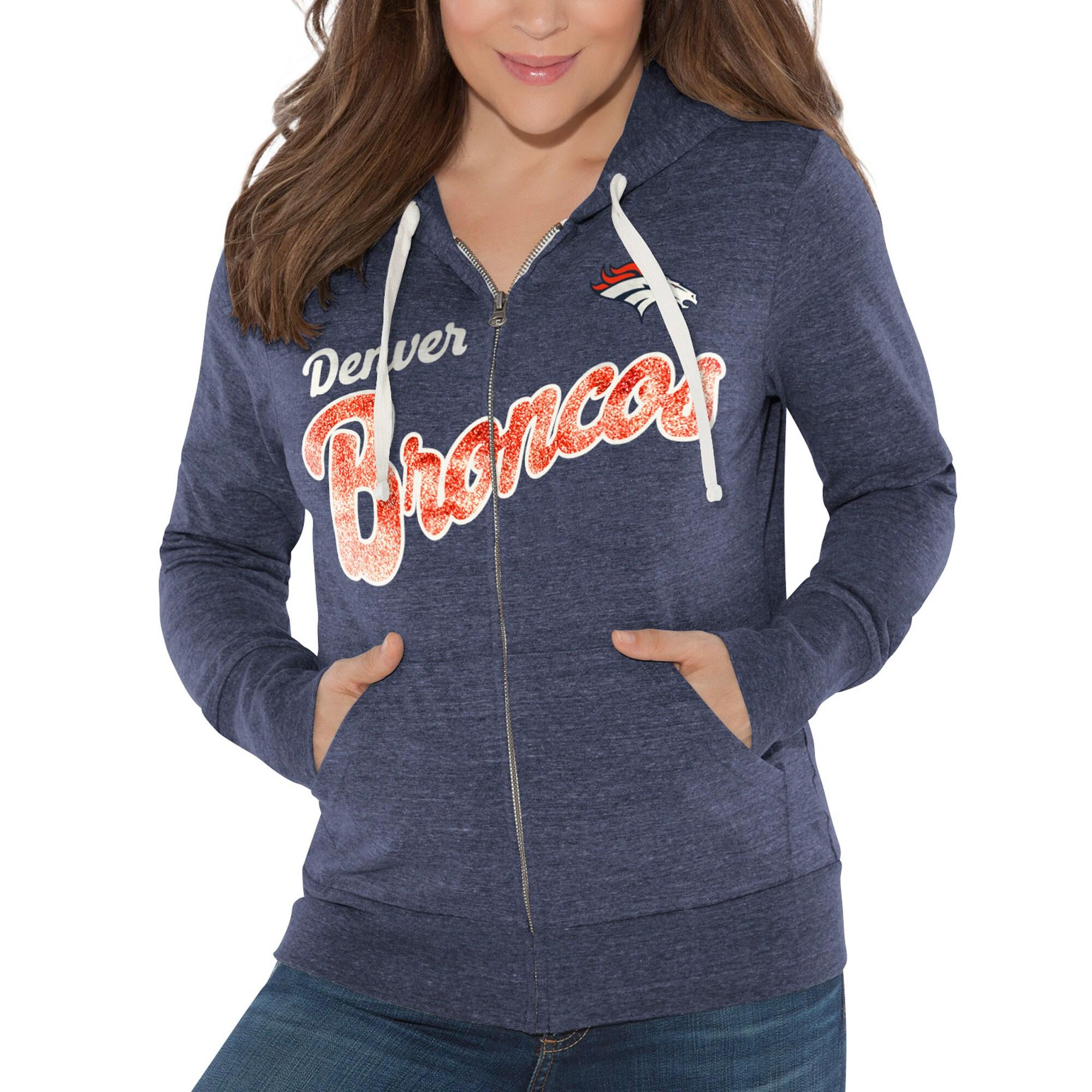 Denver Broncos Touch by Alyssa Milano Women's All American Full-Zip Hoodie - Navy