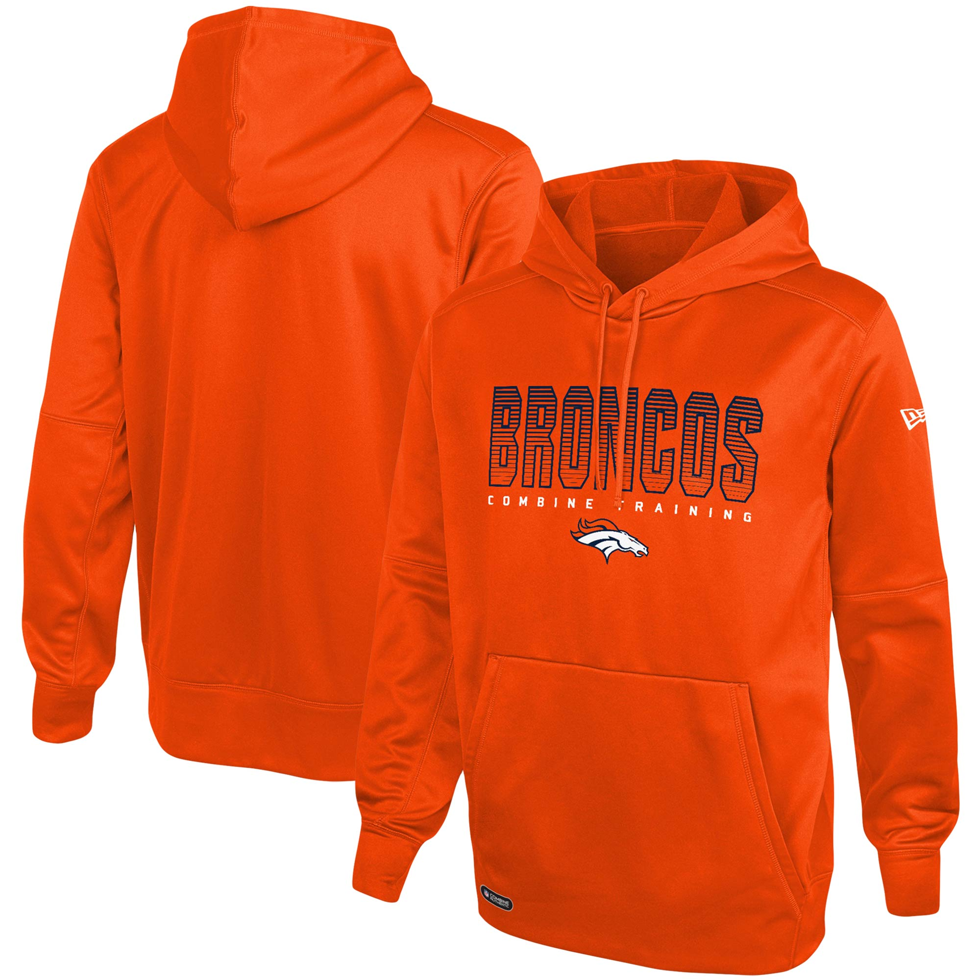 Denver Broncos New Era Combine Team Pride Pullover Hoodie - Orange