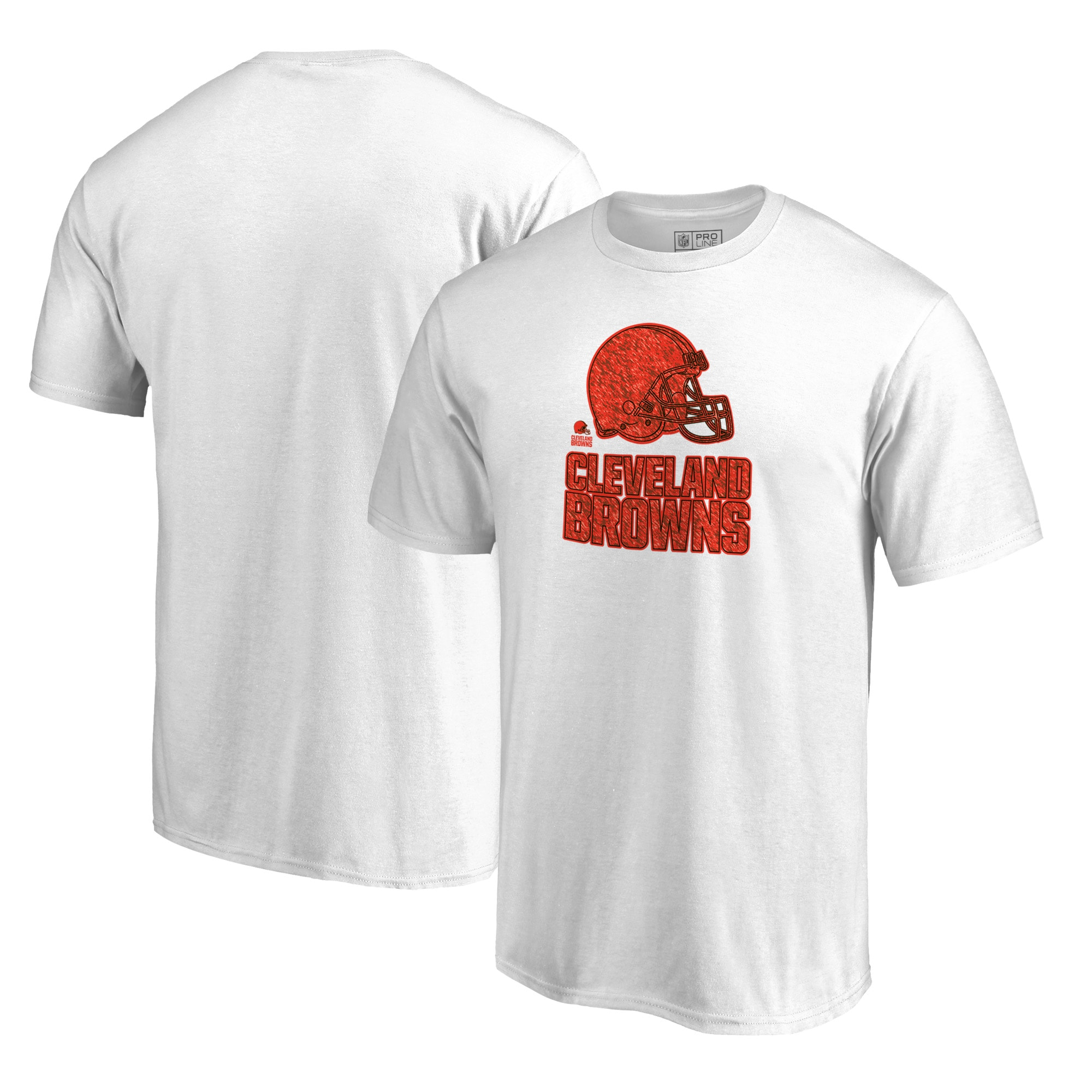 Cleveland Browns NFL Pro Line by Fanatics Branded Big & Tall Training Camp Hookup T-Shirt - White