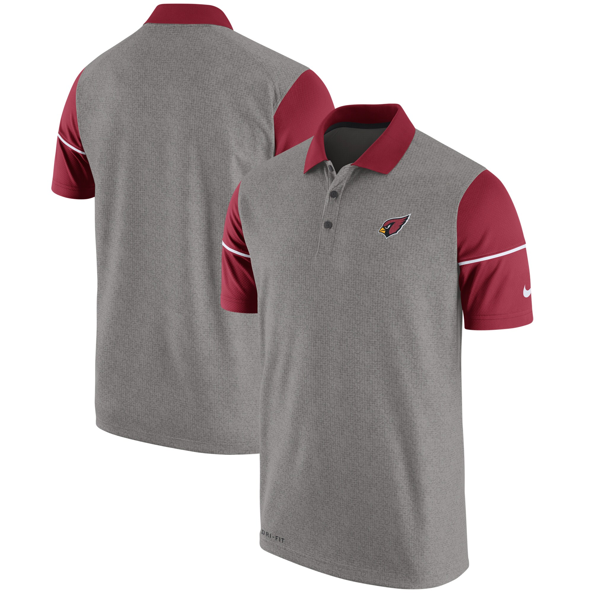 Arizona Cardinals Nike Champ Drive Sideline Performance Polo - Heathered Gray