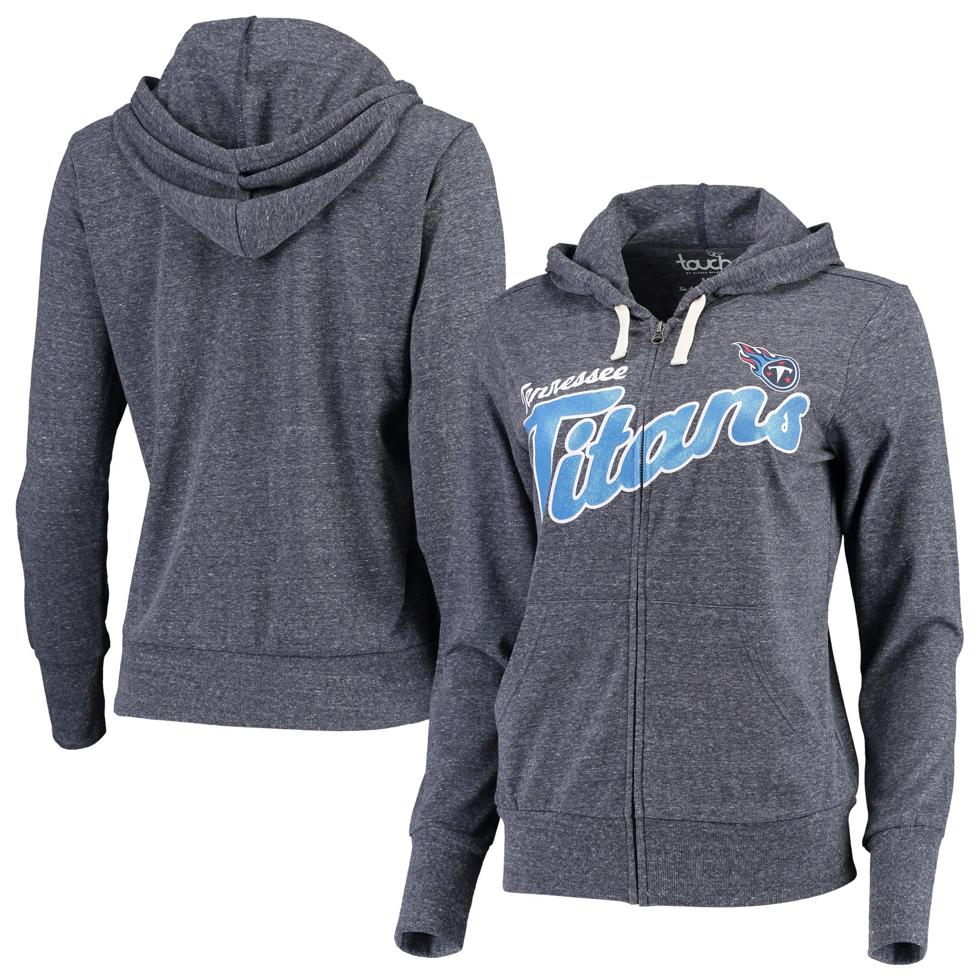 Tennessee Titans Touch by Alyssa Milano Women's All American Full-Zip Hoodie - Navy