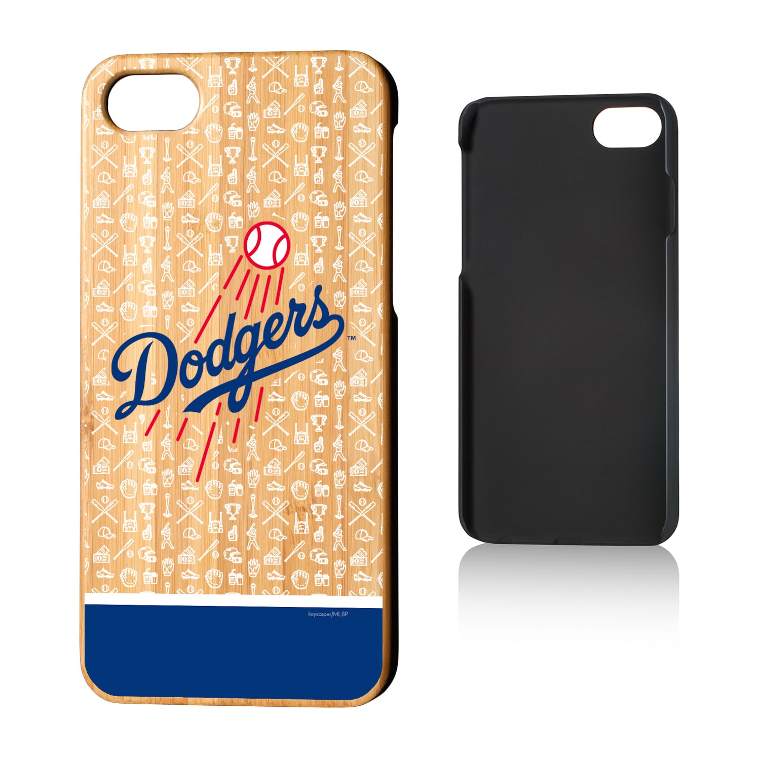 Los Angeles Dodgers iPhone 7/8 Stripe Pattern Bamboo Case