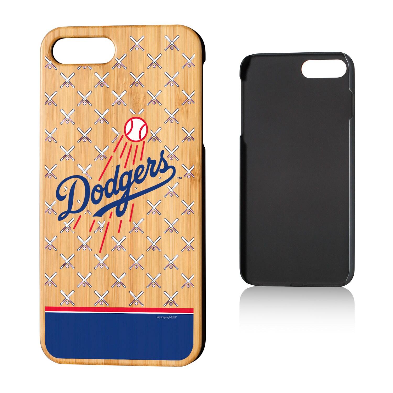 Los Angeles Dodgers iPhone 7 Plus/8 Plus Stripe Logo Bamboo Case