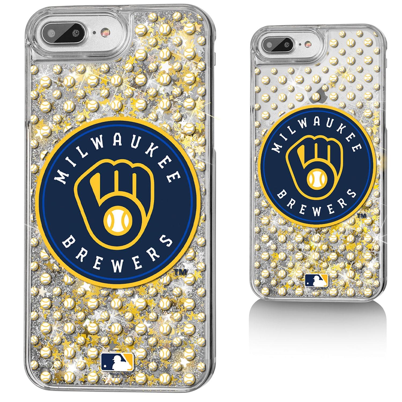 Milwaukee Brewers iPhone 6 Plus/6s Plus/7 Plus/8 Plus Alternate Sparkle Gold Glitter Case