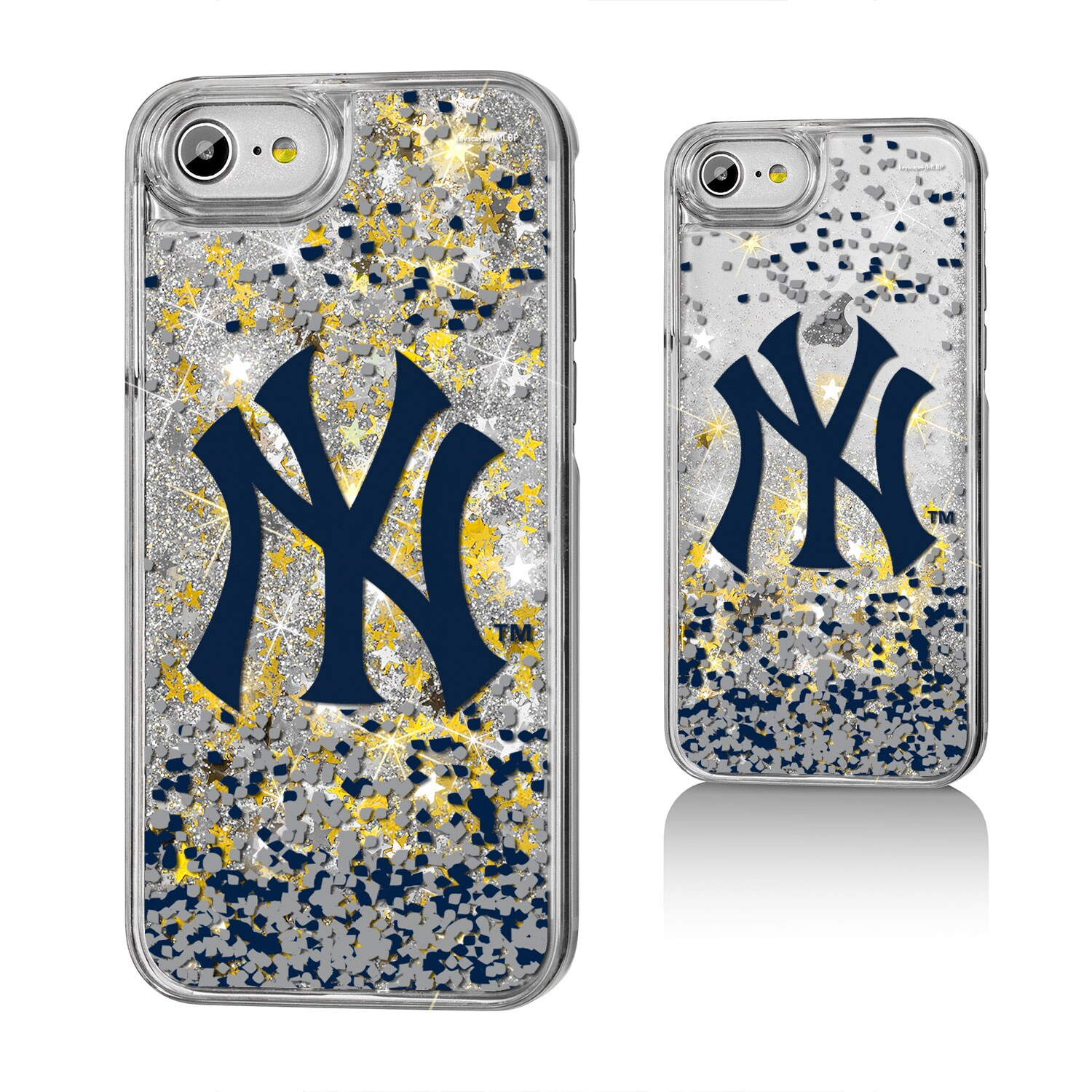 New York Yankees iPhone 6/6s/7/8 Logo Gold Glitter Case