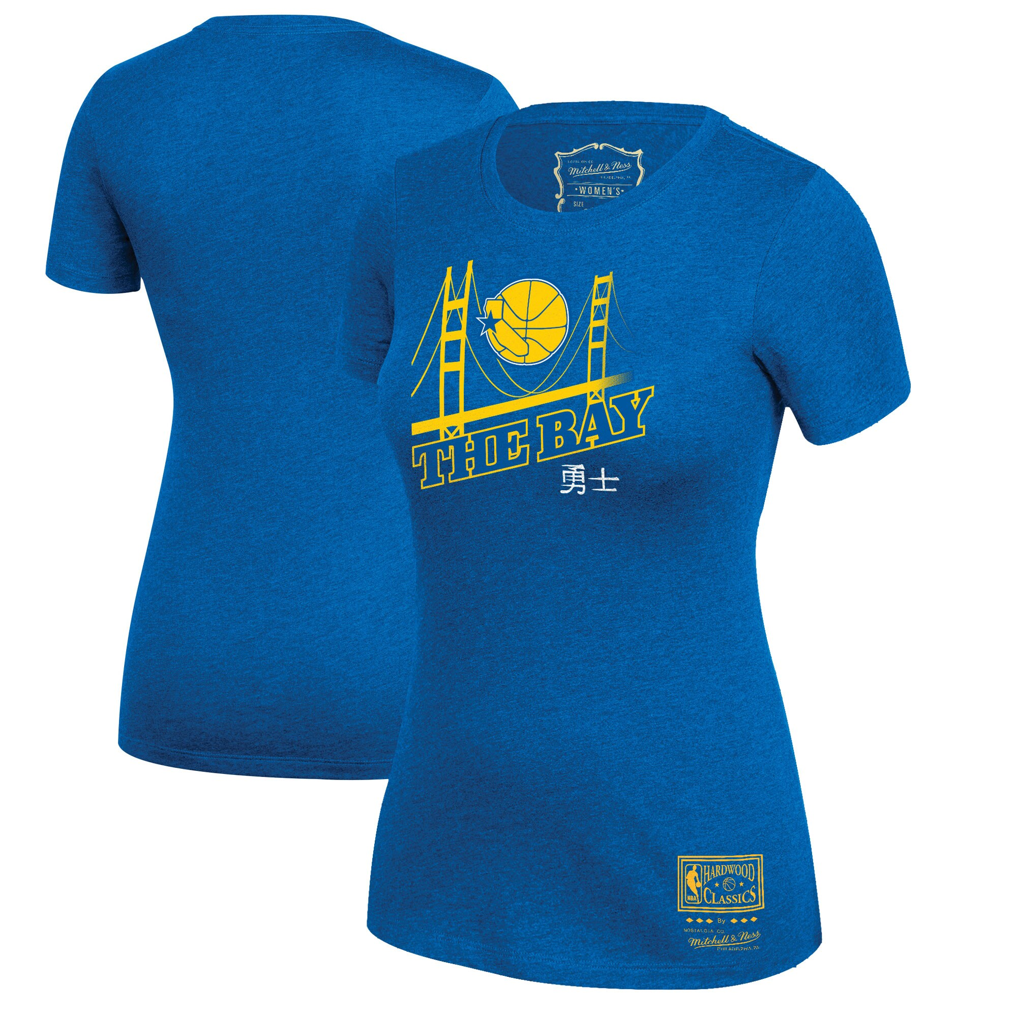 Golden State Warriors Mitchell & Ness Women's Bay Bridge Hometown T-Shirt - Royal