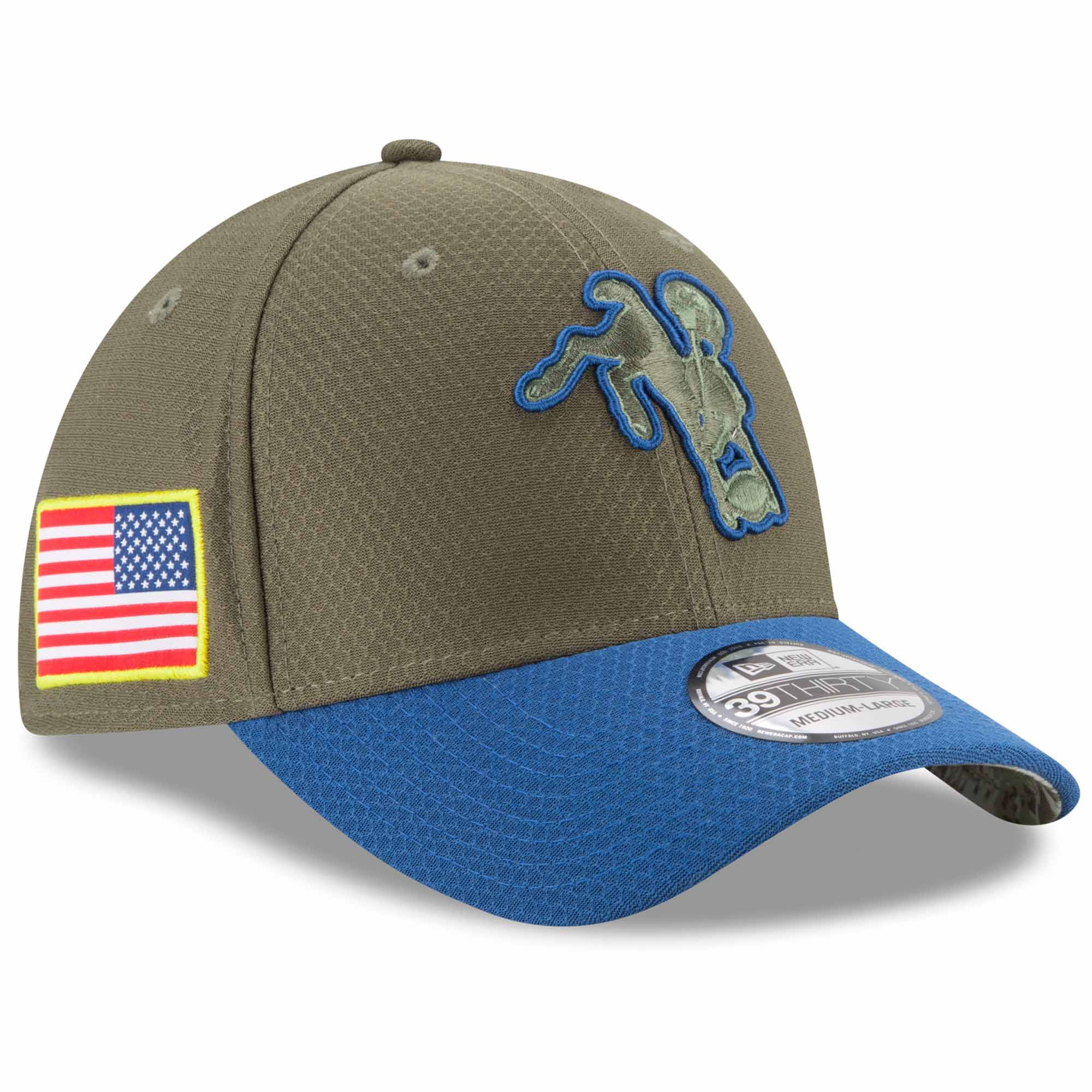 Indianapolis Colts New Era 2017 Salute To Service 39THIRTY Flex Hat - Olive