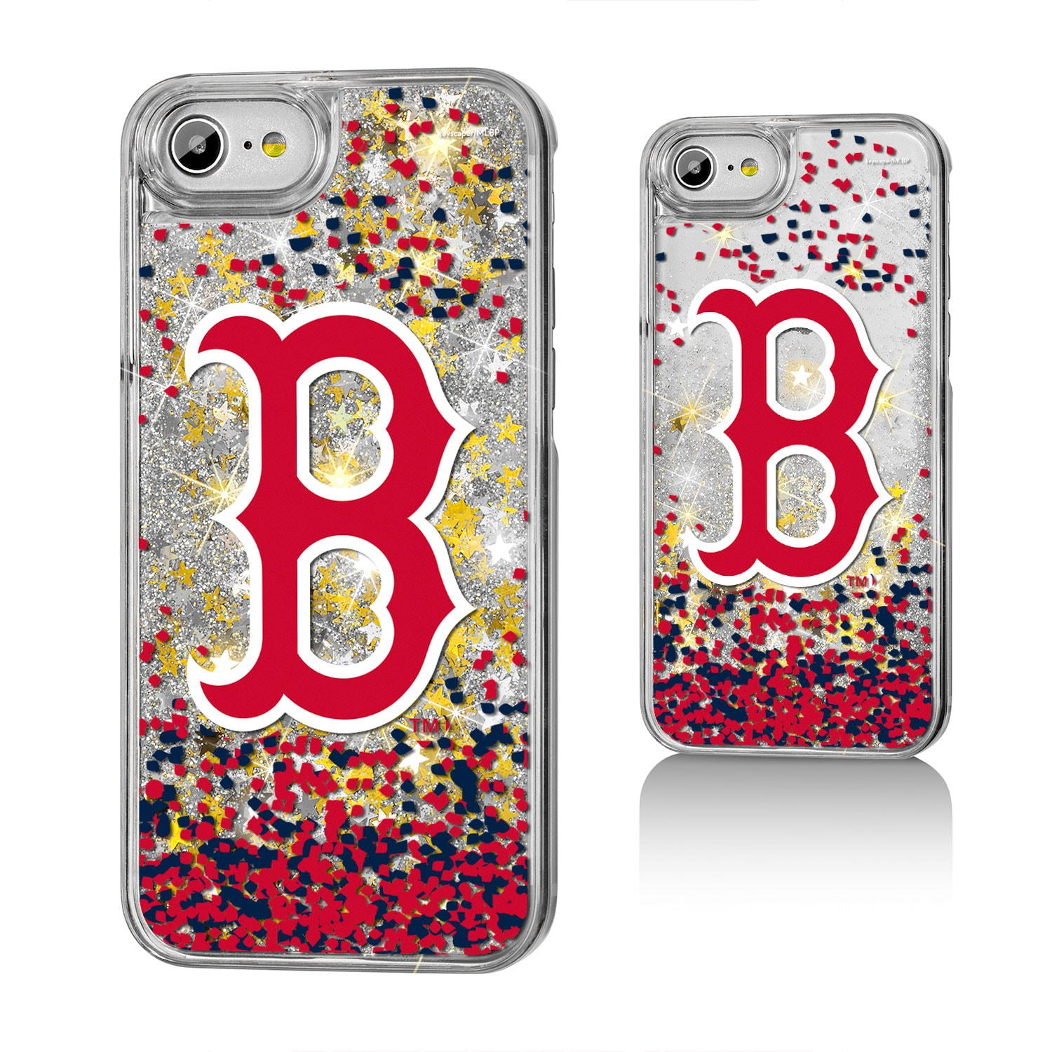 Boston Red Sox iPhone 6/6s/7/8 Sparkle Logo Gold Glitter Case
