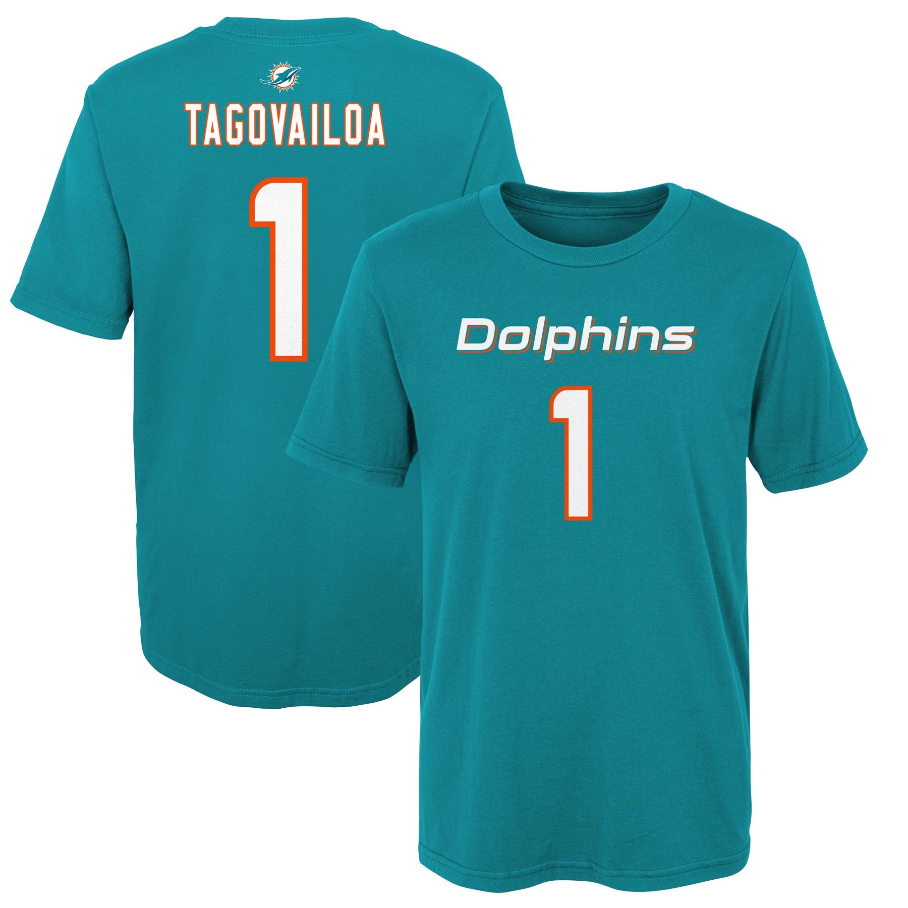 Tua Tagovailoa Miami Dolphins Preschool Mainliner Player Name & Number T-Shirt - Aqua