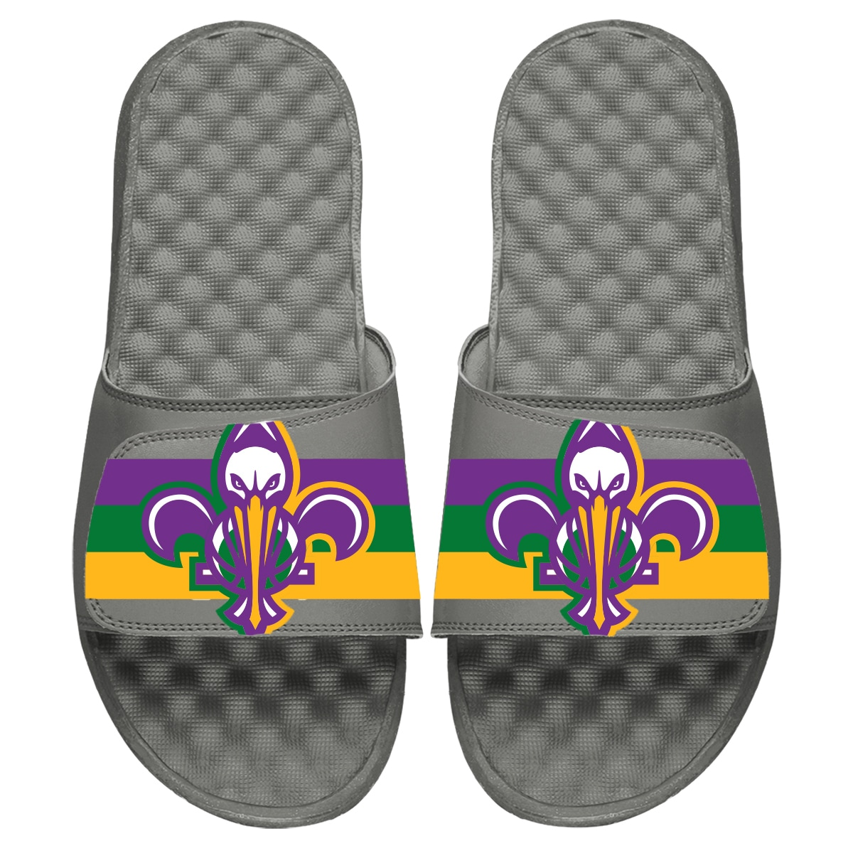New Orleans Pelicans ISlide Youth 2019/20 City Edition Slide Sandals - Gray