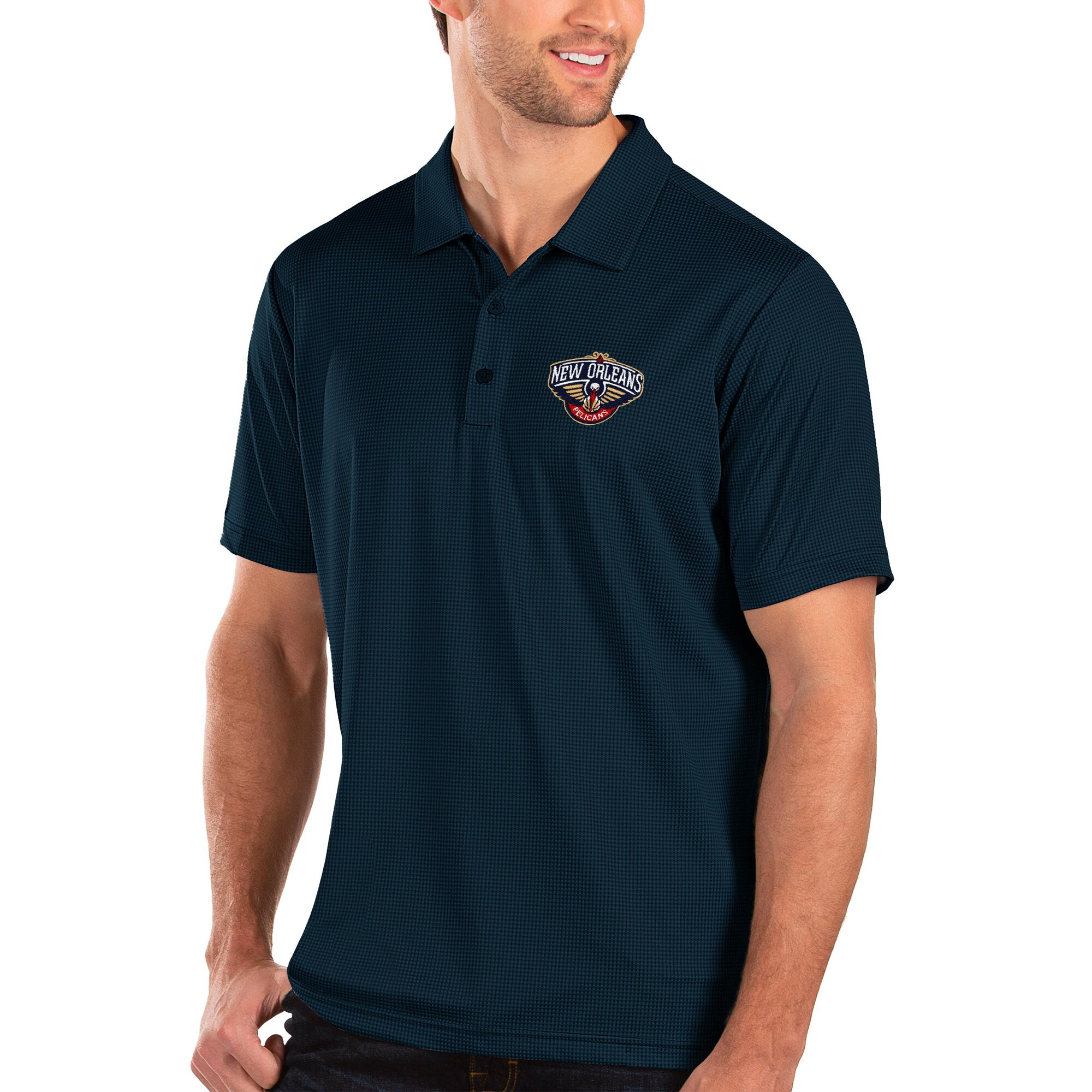 New Orleans Pelicans Antigua Balance Polo - Navy