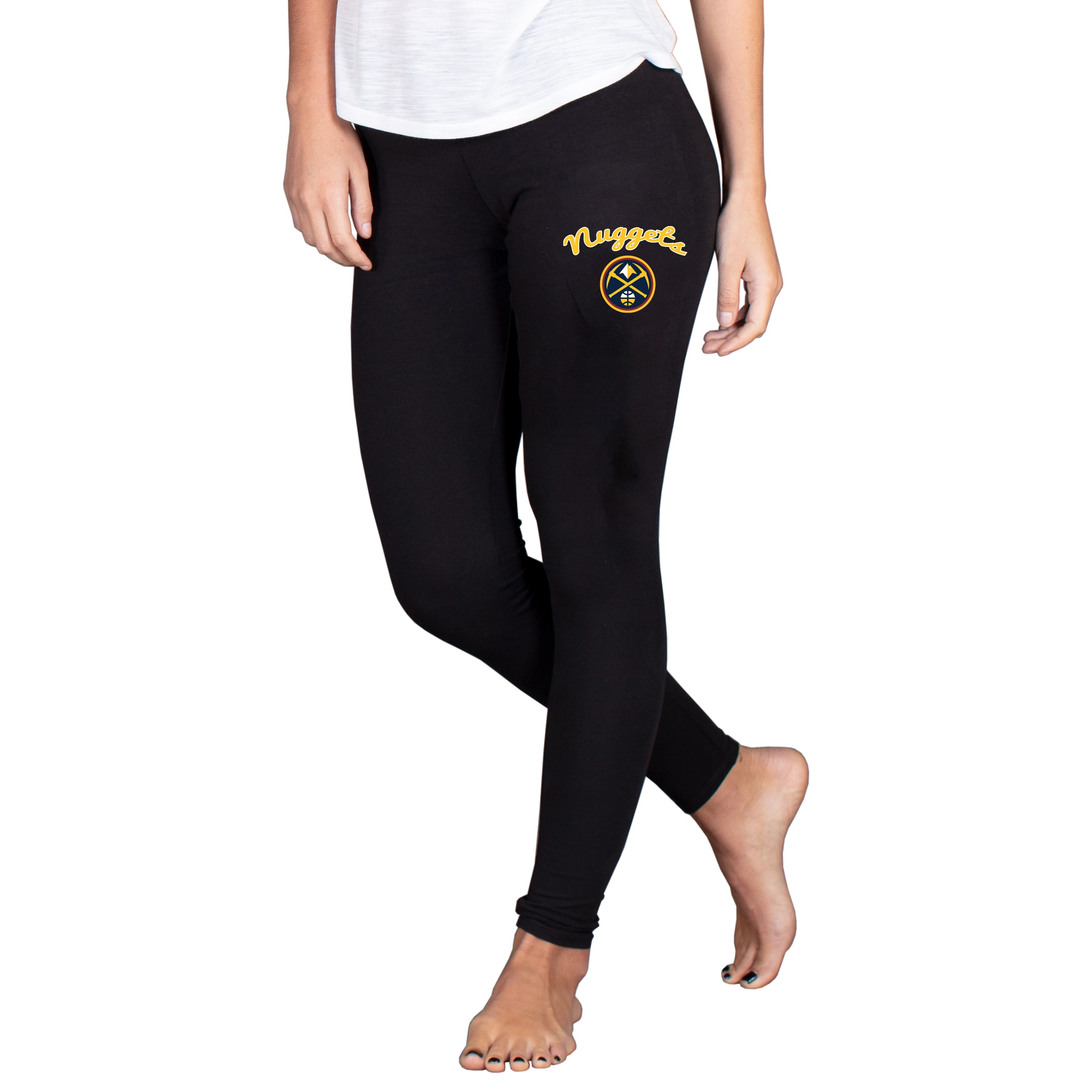 Denver Nuggets Concepts Sport Women's Fraction Leggings - Black