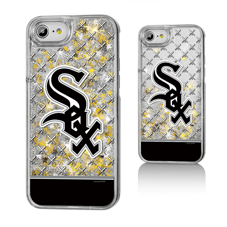 Chicago White Sox iPhone 6/6s/7/8 Logo Stripe Gold Glitter Case