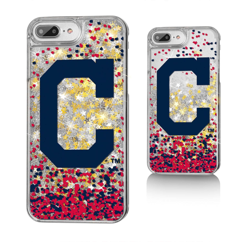 Cleveland Indians iPhone 6 Plus/6s Plus/7 Plus/8 Plus Sparkle Gold Glitter Case